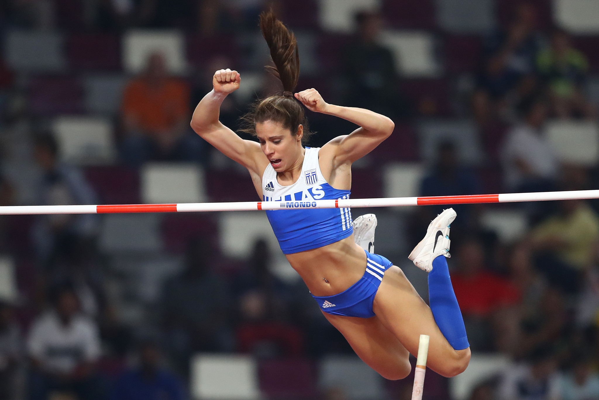 Greek pole vaulter Katerina Stefanidi is among those seeking election to the IOC Athletes' Commission at Tokyo 2020 ©Getty Images