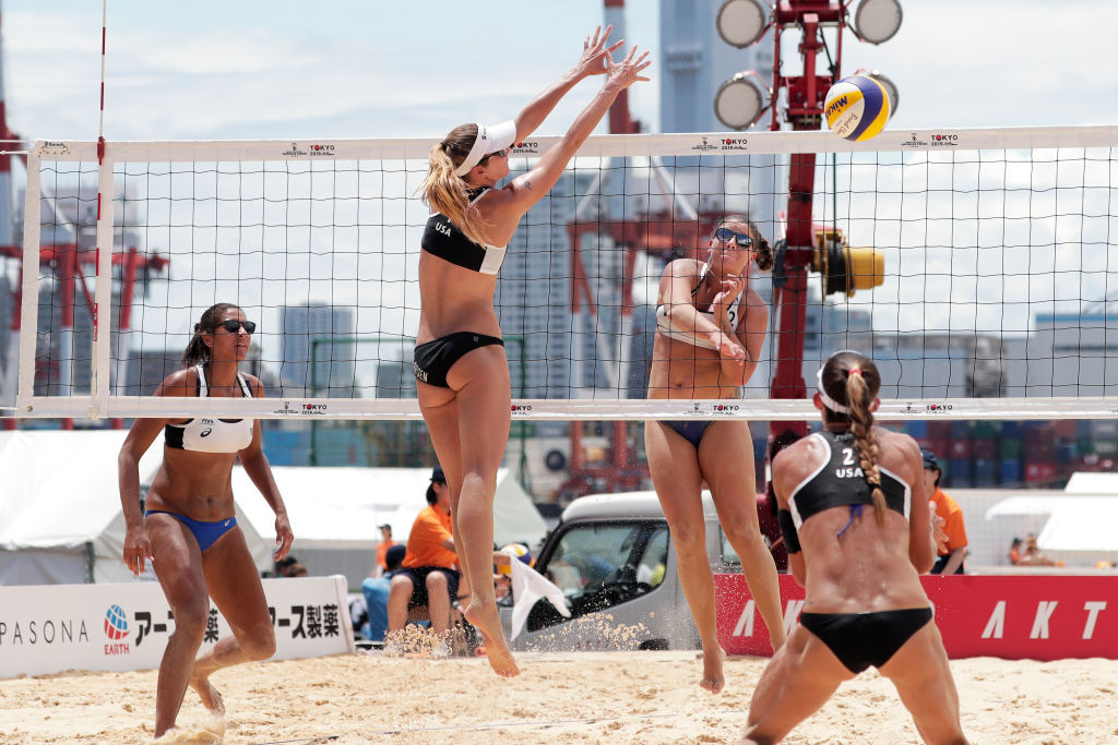 Brazil's Rebecca Cavalcanti and Ana Patrica Ramos were beaten in the final of the FIVB Beach Volleyball World Tour four-star event in Gstaad by the compatriots whom they will joint at the Tokyo 2020 Olympics, Agatha and Duda ©Getty Images