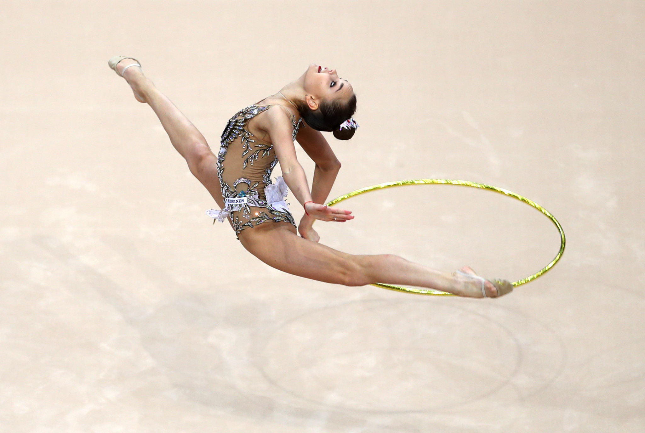 Dina Averina won four individual golds including in the hoop category ©Getty Images