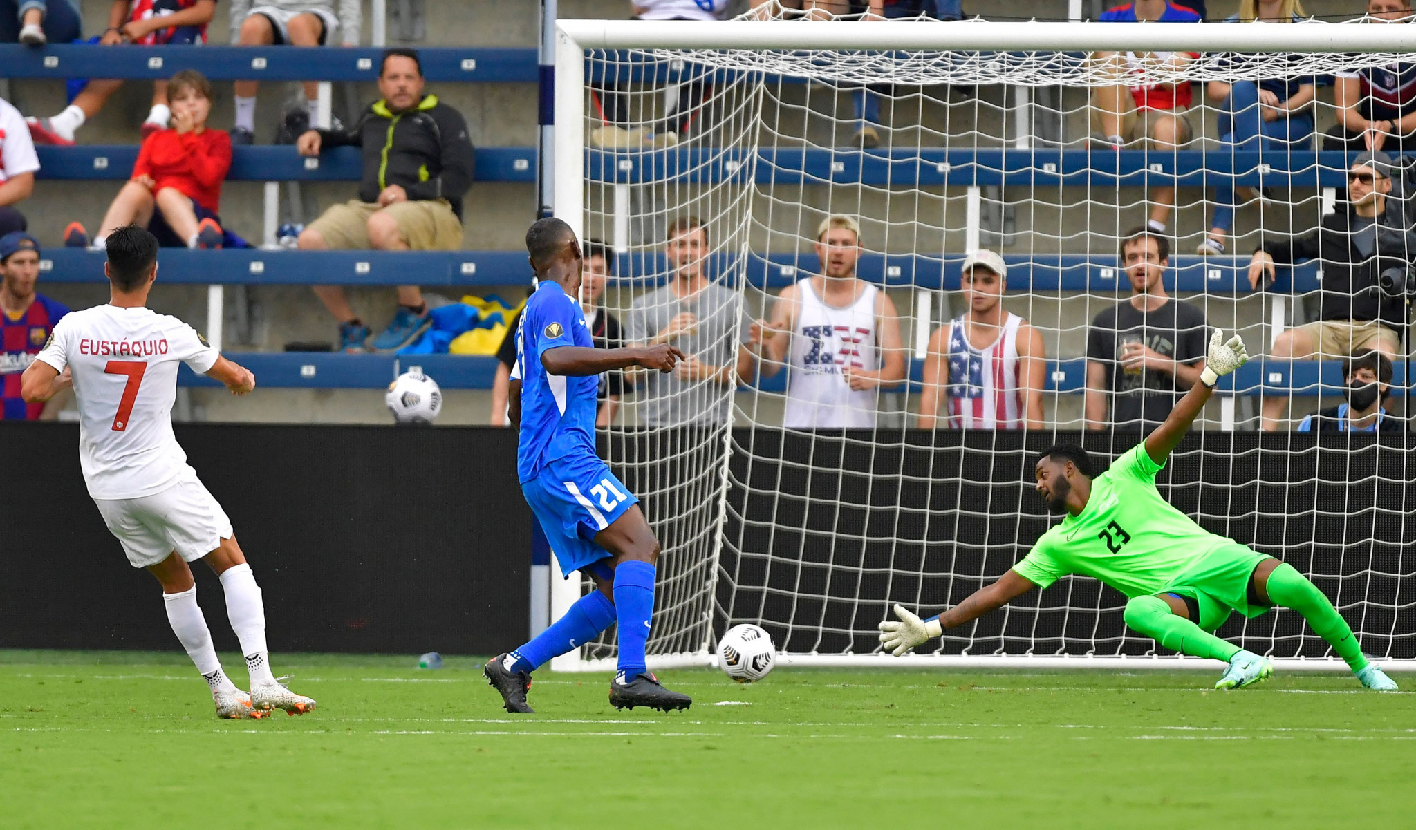 Canada came from a goal down to beat Martinique 4-1 in the earlier match at Children's Mercy Park in Kansas City ©Getty Images