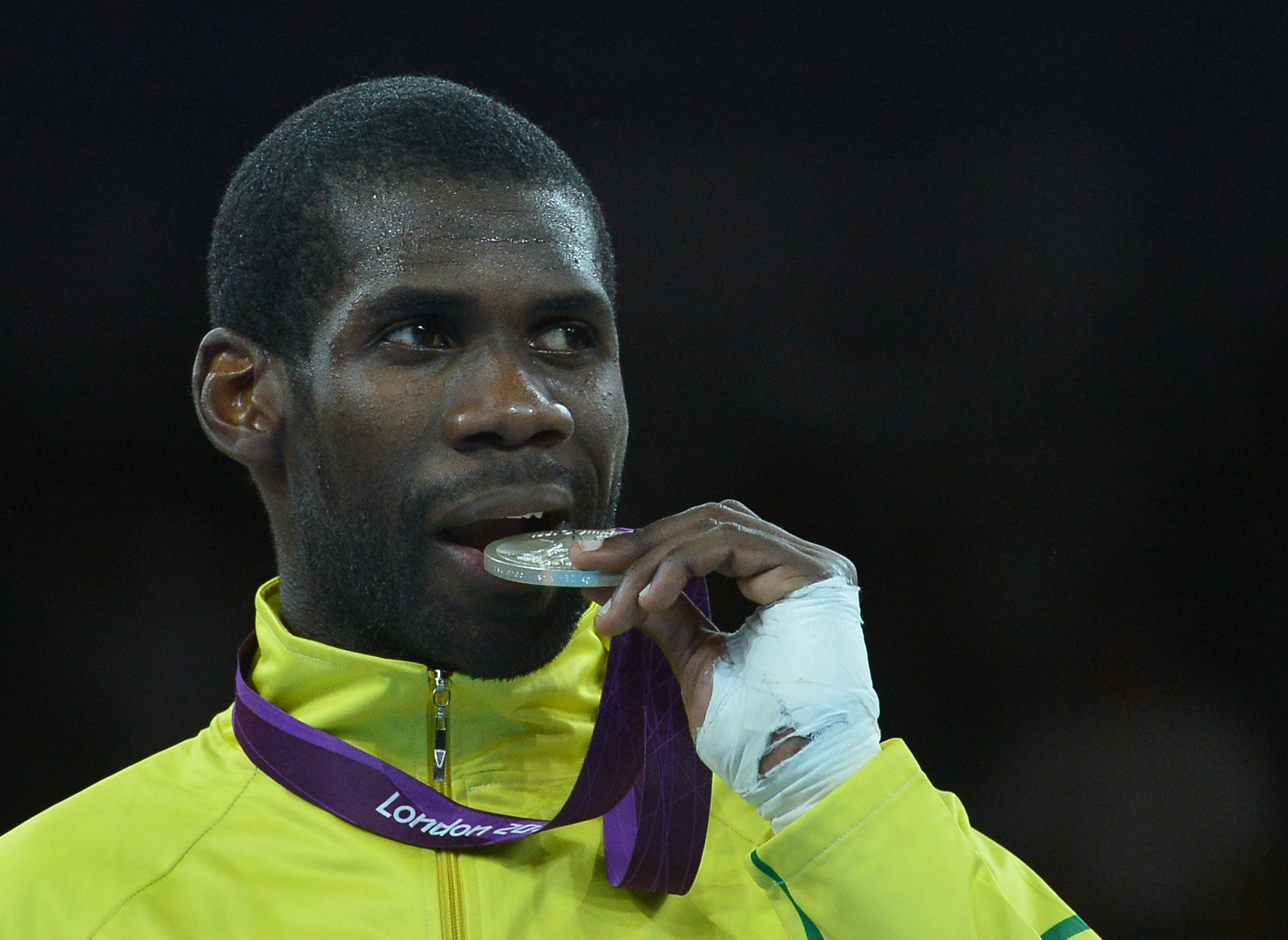 Anthony Obame was one of three Gabonese medallists at the African Taekwondo Championships ©Getty Images