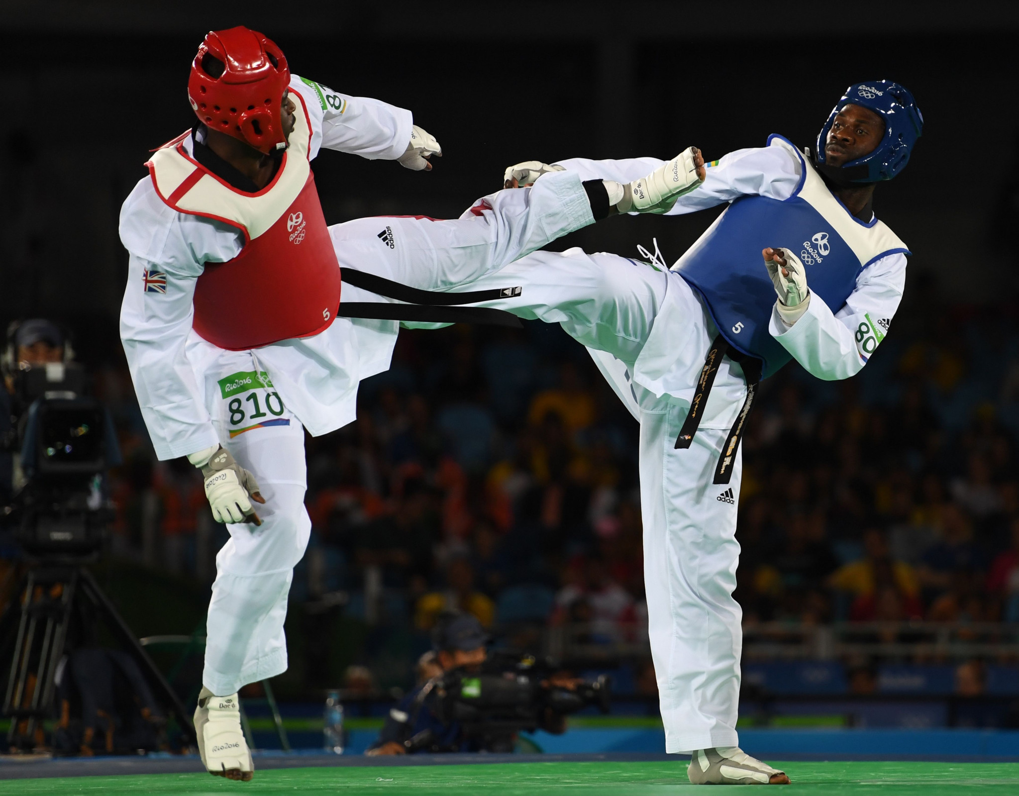 Anthony Obame, right, is set to feature at his third consecutive Olympic Games later this month ©Getty Images