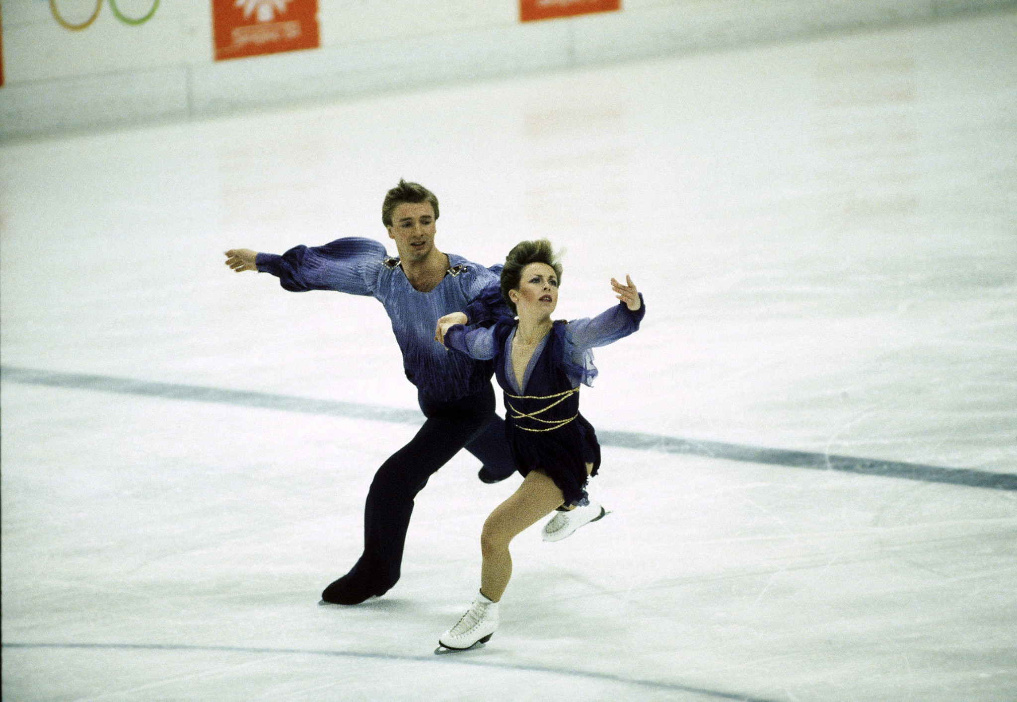 Jayne Torvill and Christopher Dean won Olympic gold at Sarajevo 1984 ©Getty Images
