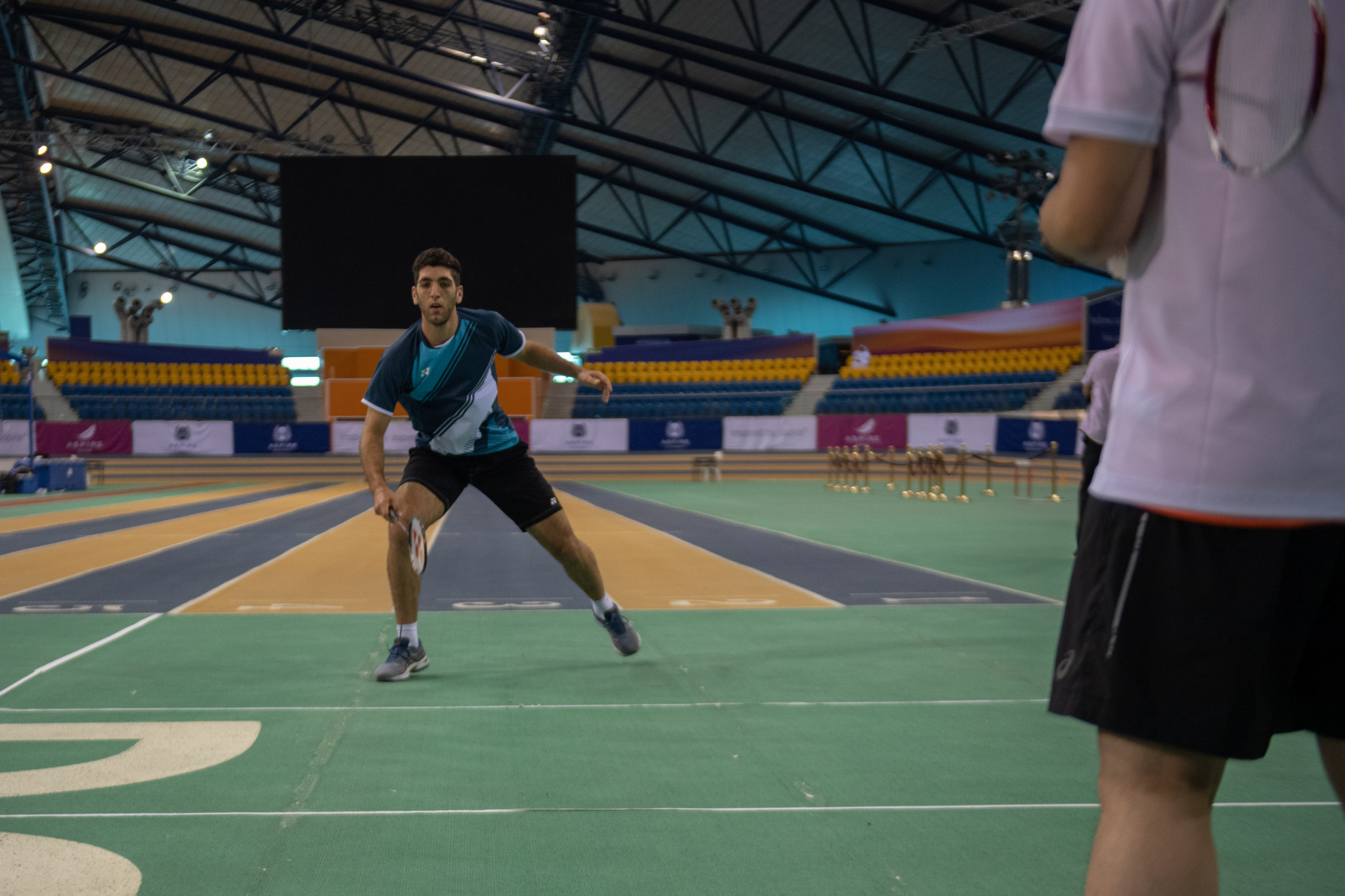All 29 members of the Olympic Refugee Team trained in preparation for Tokyo 2020 at the Aspire Zone in Doha ©QOC