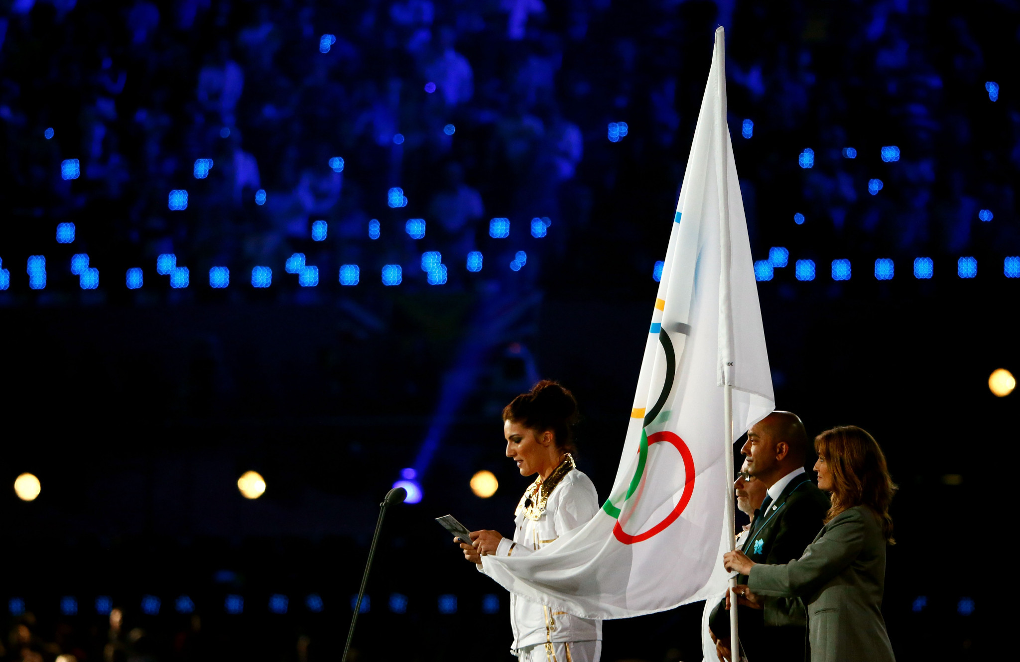 Until now, only athlete took the Olympic oath on behalf of the competitors, as Britain's Sarah Stevenson did at London 2012 ©Getty Images