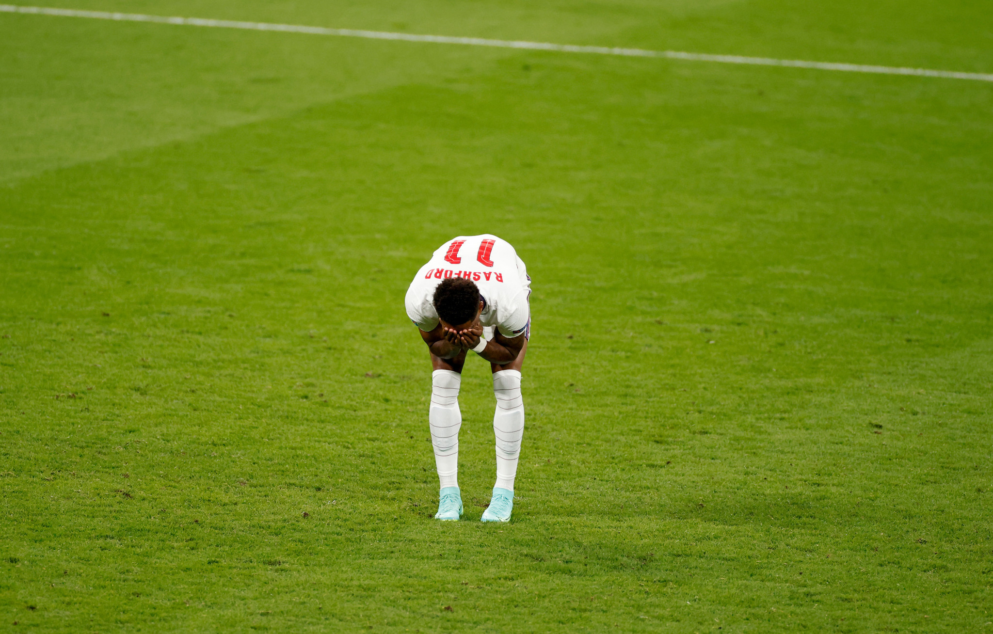 The England players who missed penalties have been subjected to vile abuse online ©Getty Images