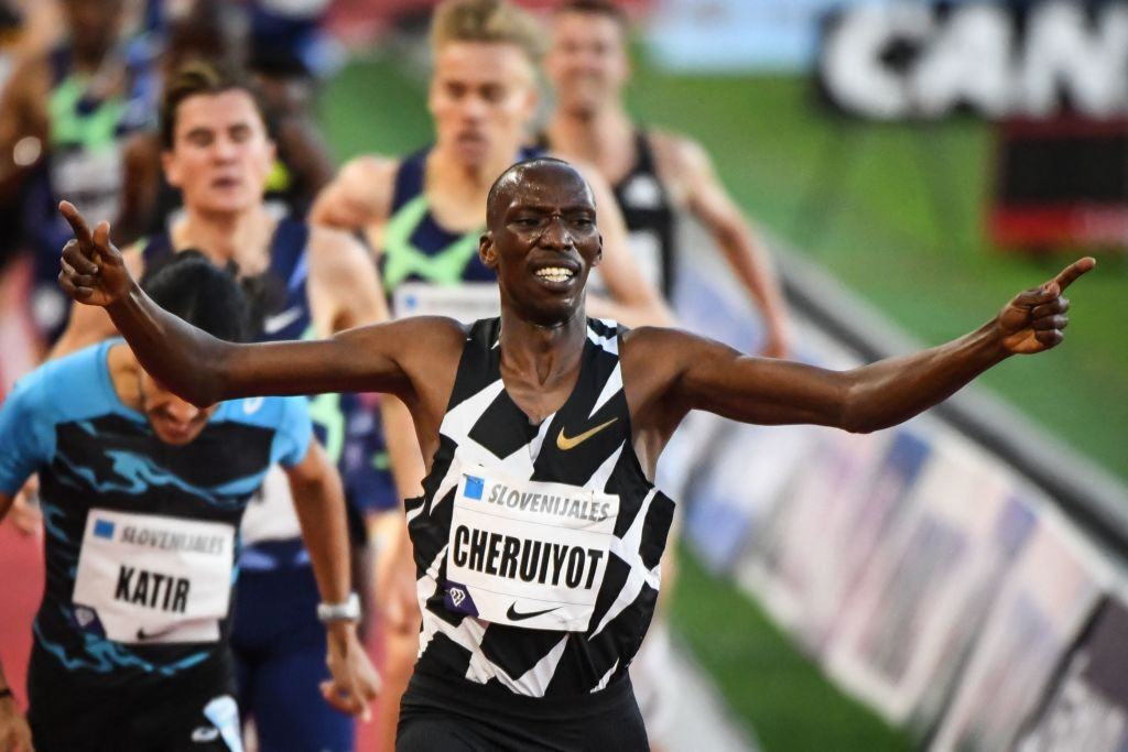 Timothy Cheruiyot, pictured winning the 1500m at last Friday's Wanda Diamond League meeting in Monaco in a personal best of 3min 28.28sec, has been added to the Kenyan team for Tokyo 2020 despite initial failure at last month's trials ©Getty Images
