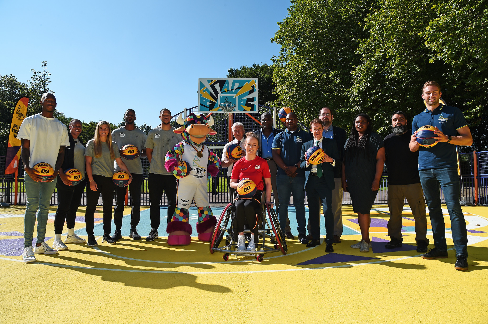 Birmingham 2022 has transformed a basketball court in Summerfield Park ©Getty Images