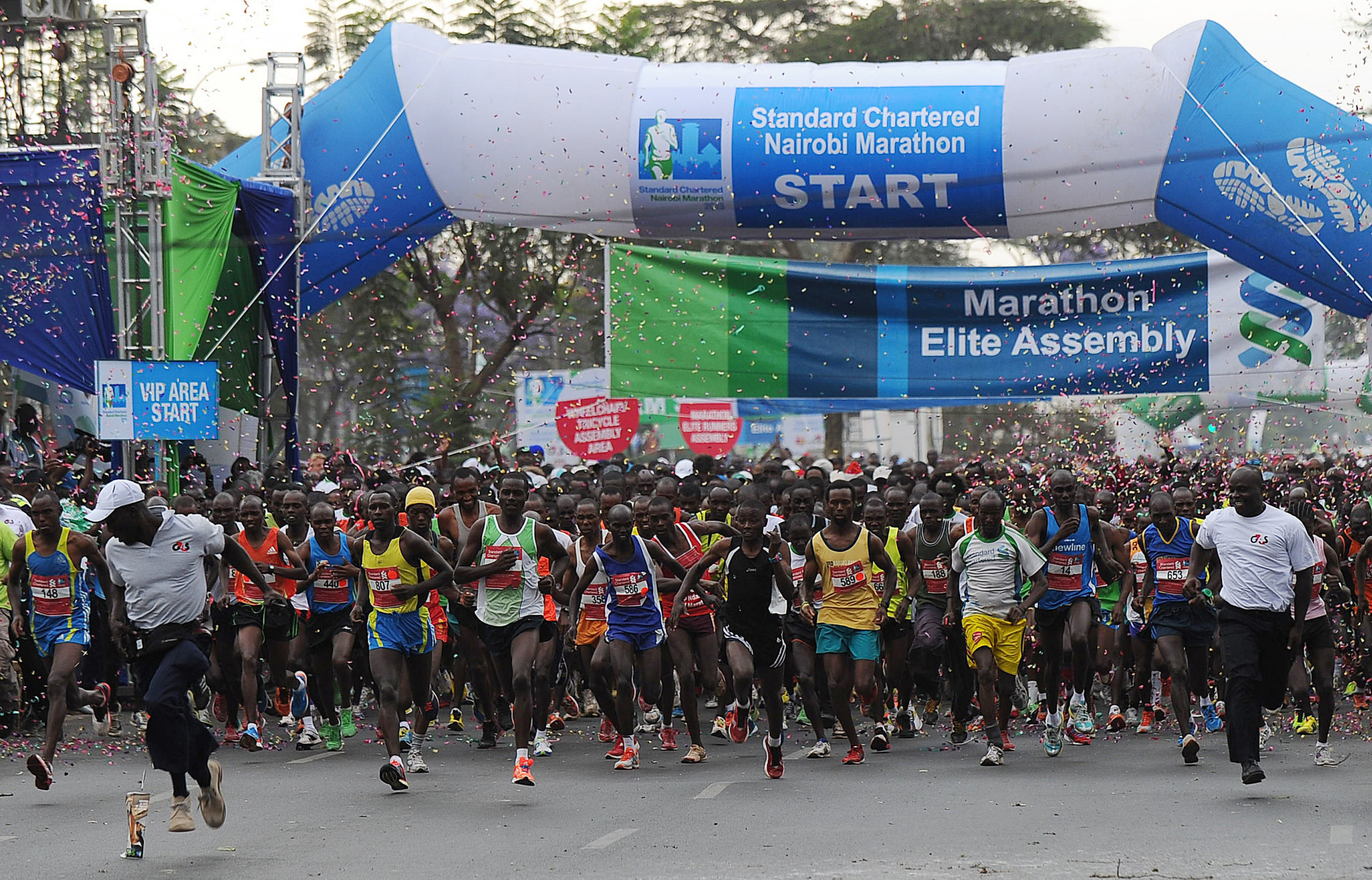 The Nairobi Marathon is sponsored by Standard Chartered Bank ©Getty Images