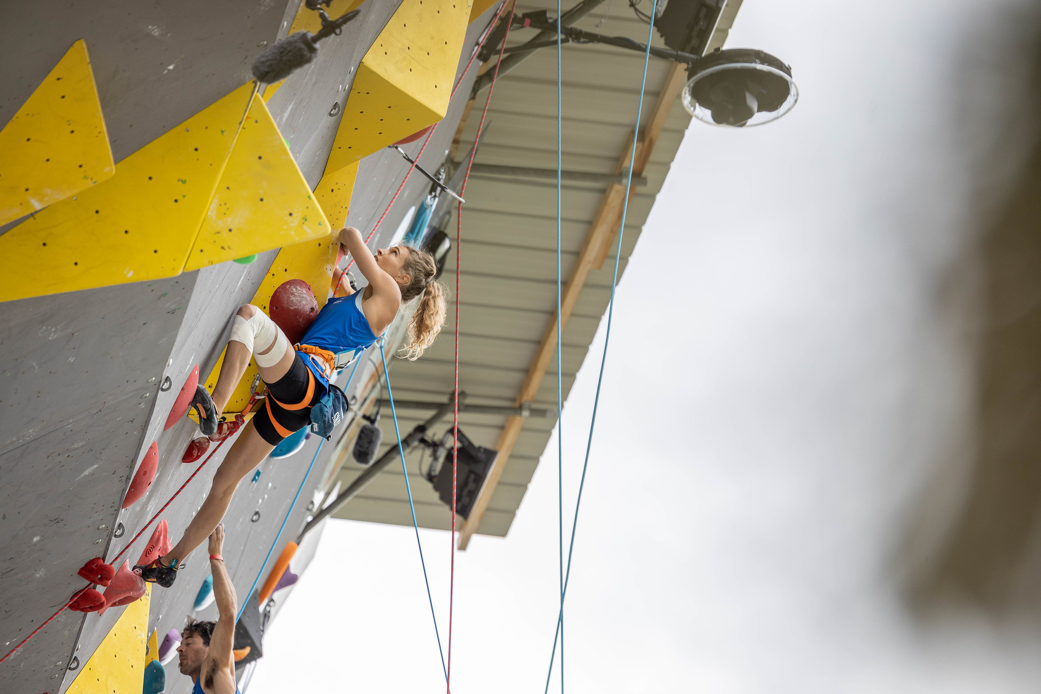 Solenne Piret was among the French winners at the IFSC Paraclimbing World Cup in Briançon ©IFSC/Jan Virt