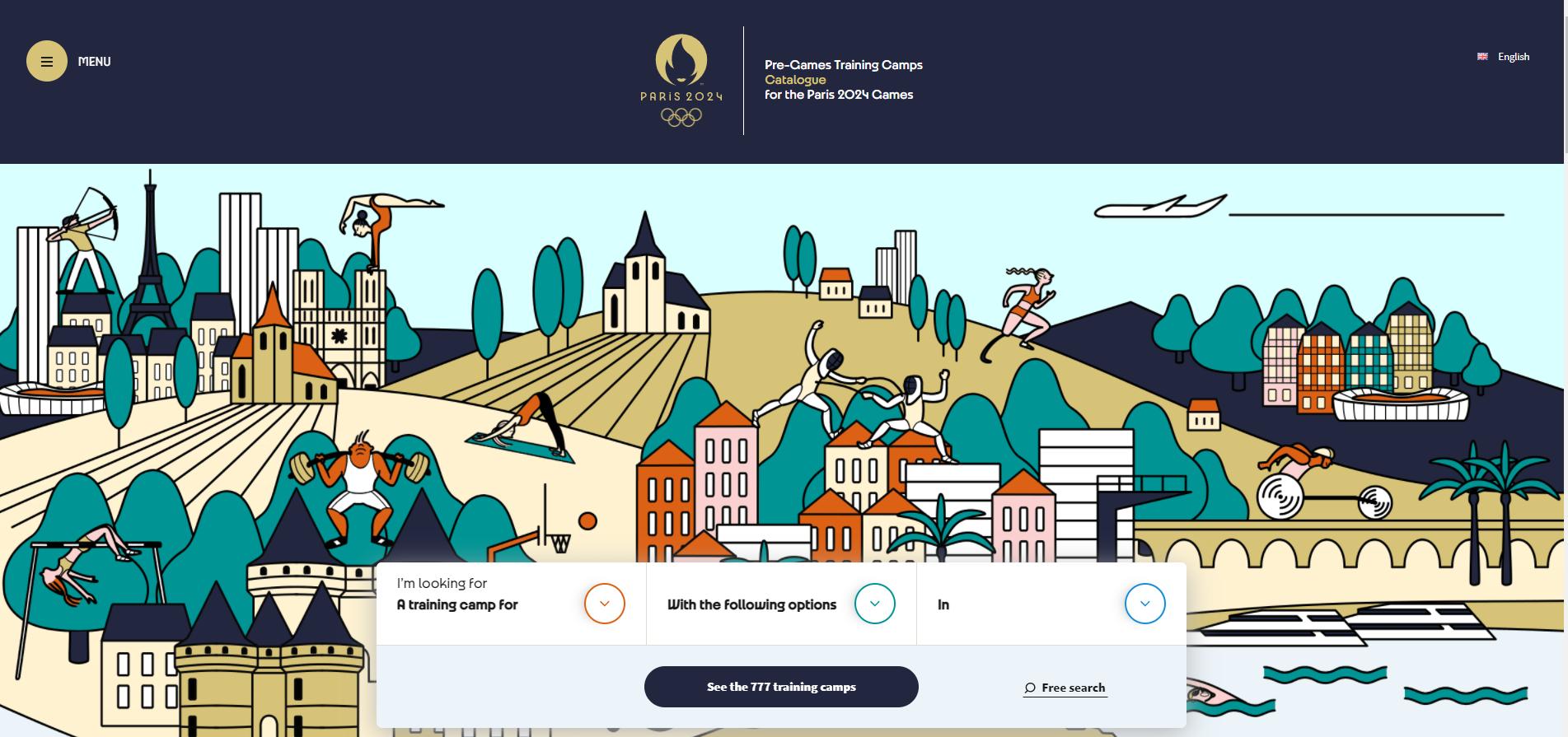 Paris 2024 unveils website listing potential training camp venues