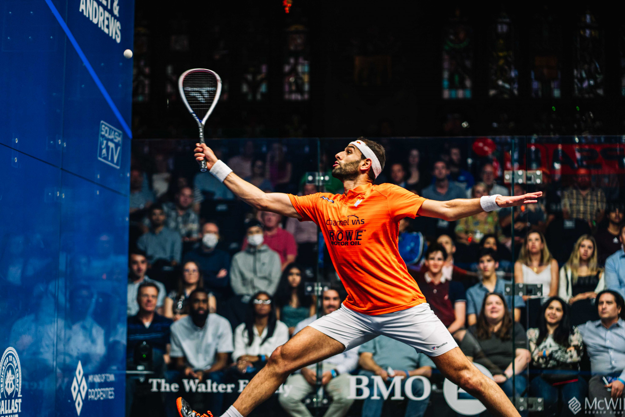 Mohamed ElShorbagy began in Chicago with a routine victory ©PSA