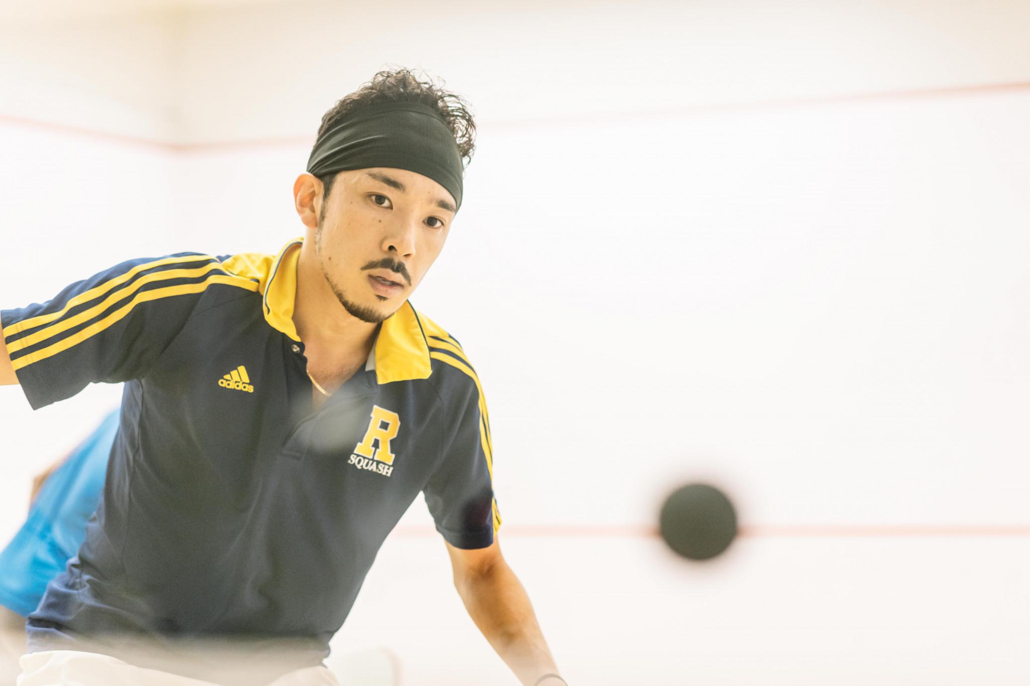 Ryosei Kobayashi made history for Japan by reaching round two ©PSA