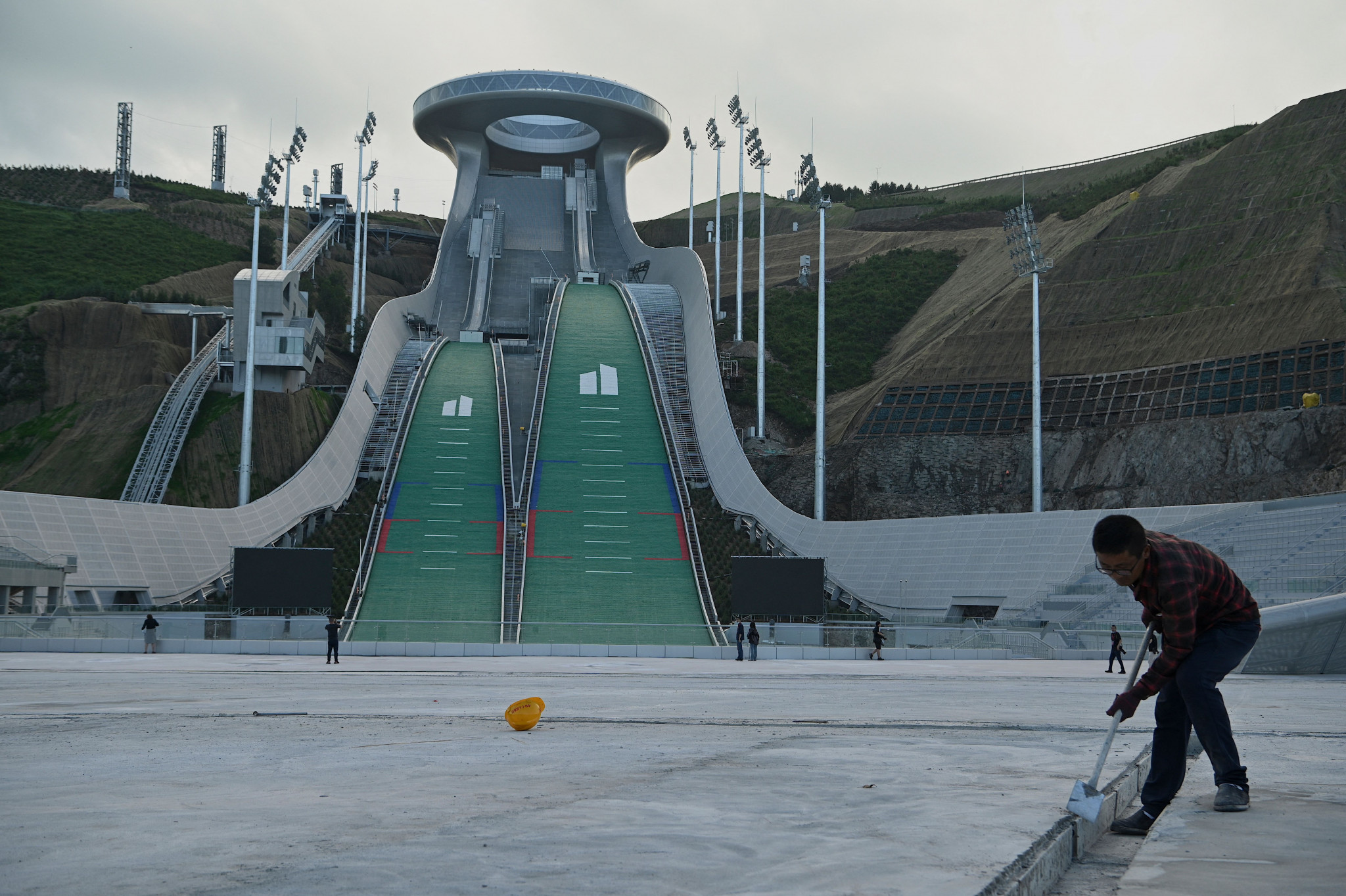 The National Ski Jumping Centre in Zhangjiakou will host the world's best ski jumpers during the 2022 Winter Olympics ©Getty Images