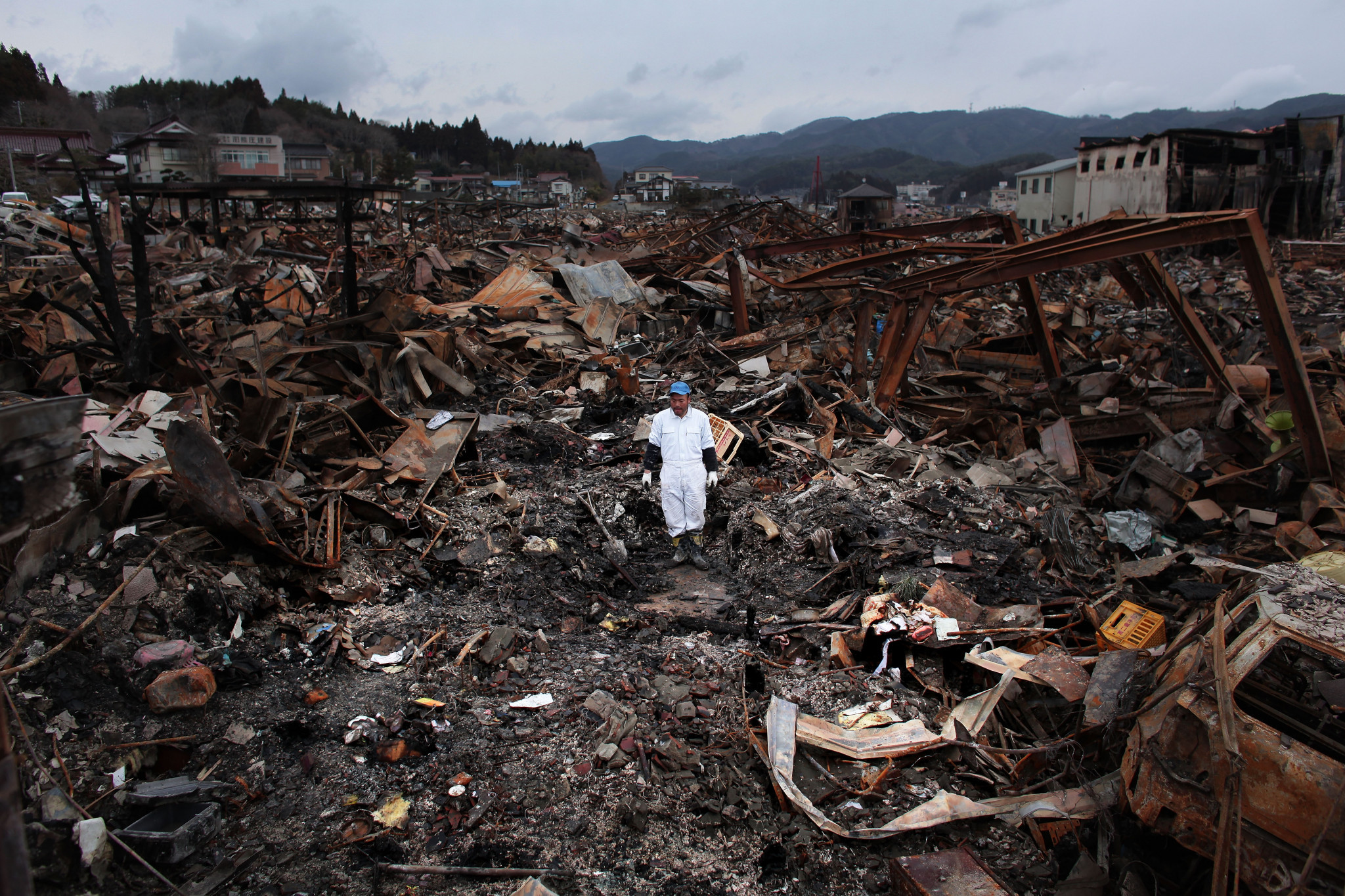 In excess of 20,000 people were killed by the Great East Japan Earthquake and ensuing tsunami in 2011 ©Getty Images