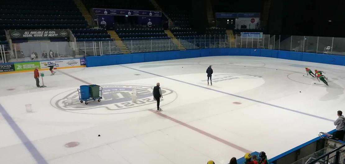 British Ice Skating holds short track speed skating camp for prospective athletes