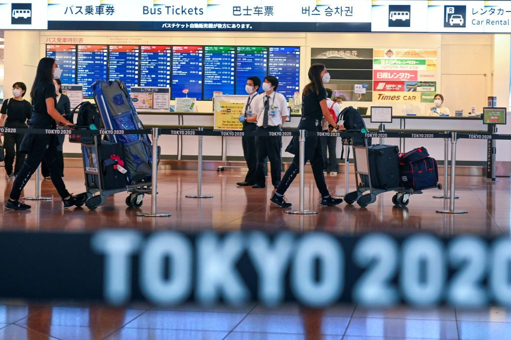 Athletes have started to arrive in Tokyo for the delayed Olympic Games ©Getty Images