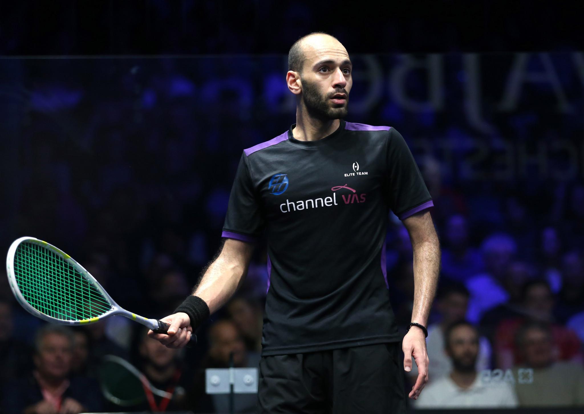 Marwan ElShorbagy survives five game clash at PSA World Championships