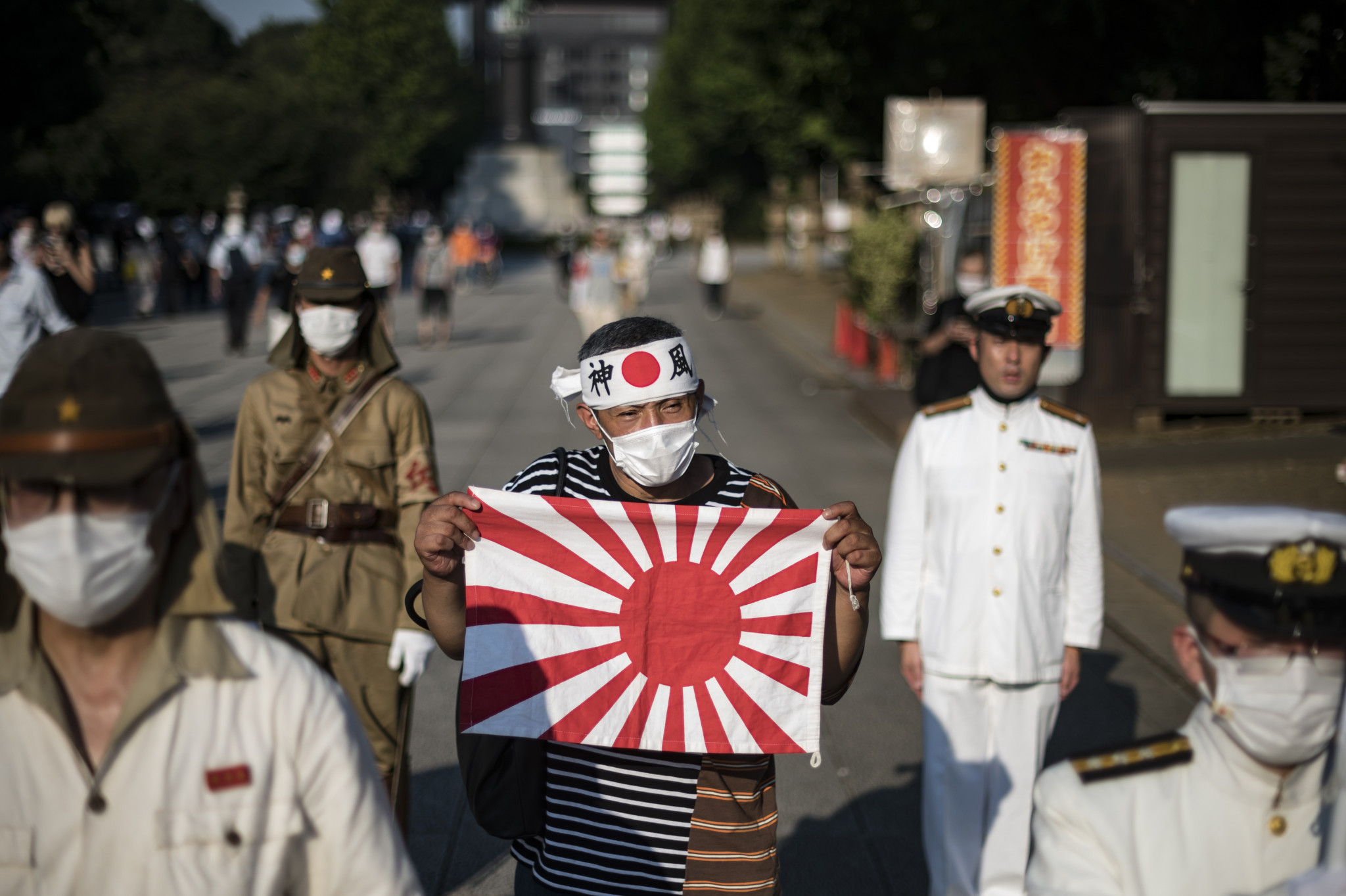 The KSCO said the IOC was also against the use of the Rising Sun Flag after members of the minor National Party of Japan displayed it in protest to South Korea's banners ©Getty Images