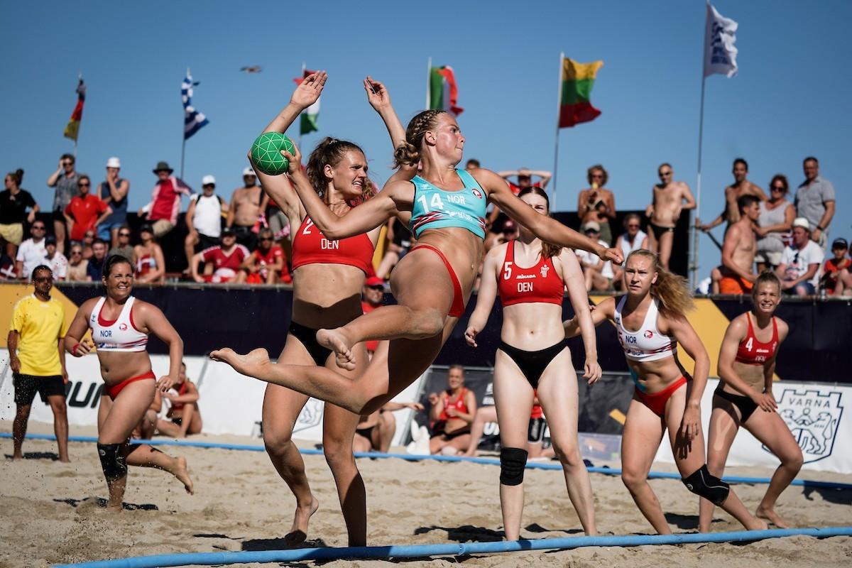 Denmark's men and women reach finals at European Beach Handball Championships