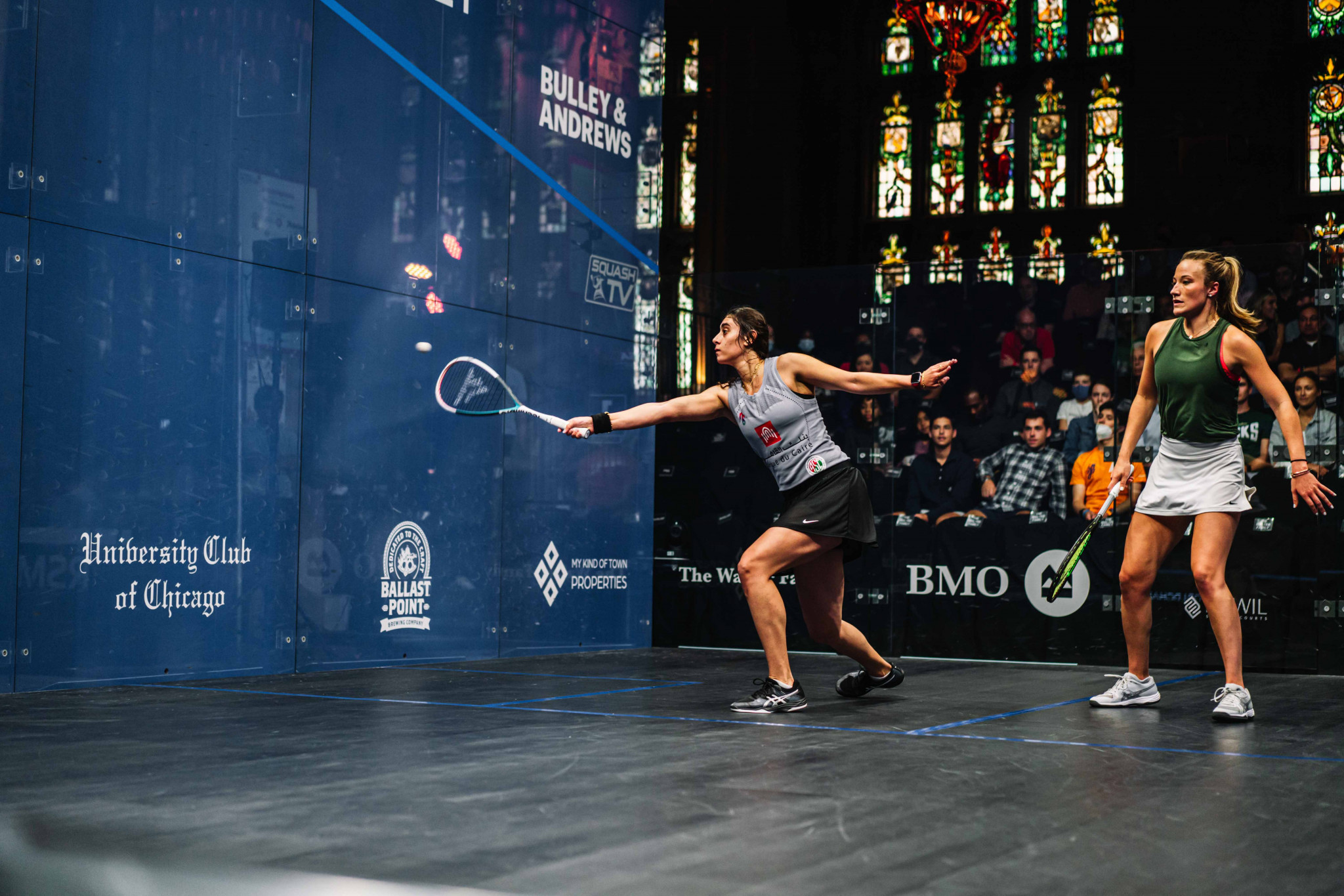 El Sherbini marches on at expense of home hope Fiechter at PSA World Championships