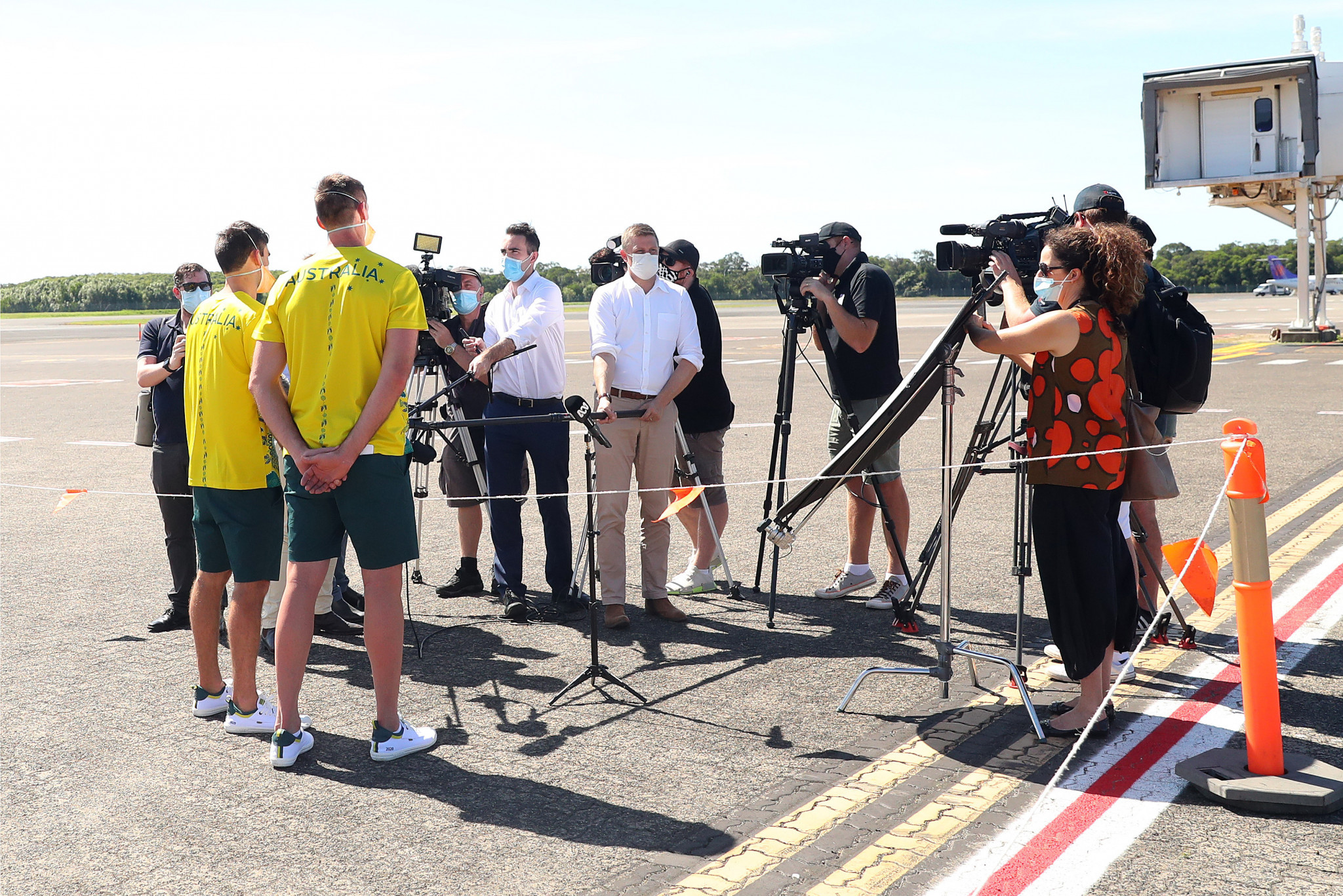 Australian athletics team locked down after staff member tests inconclusive