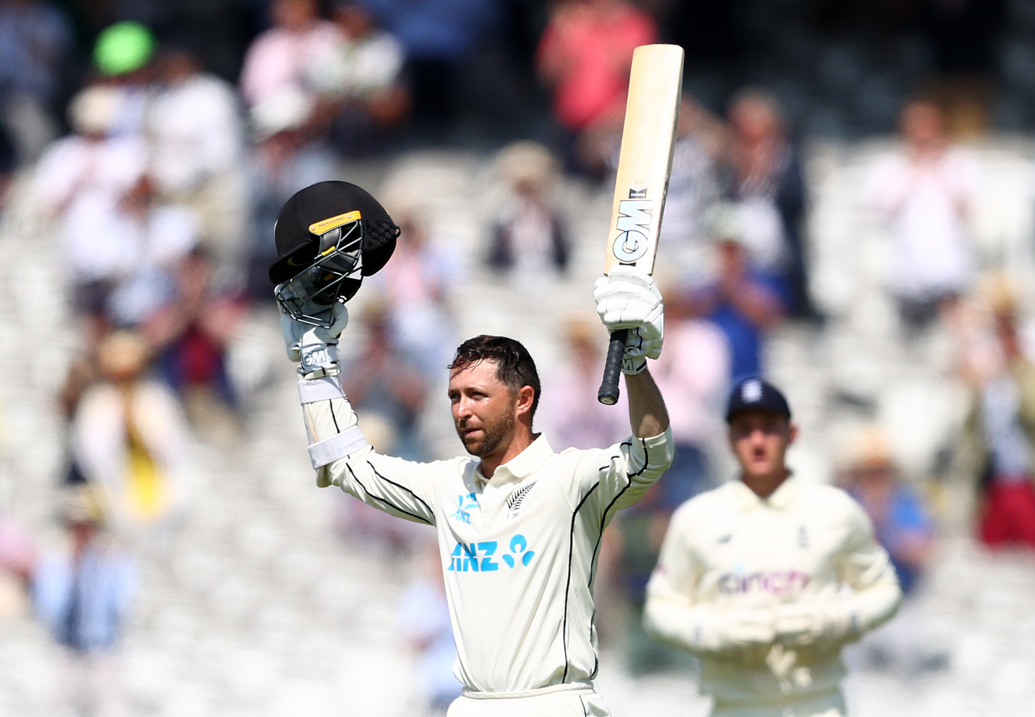 A double century on Test debut at Lord's helped Devon Conway to clinch the Men's ICC Player of the Month award ©Getty Images
