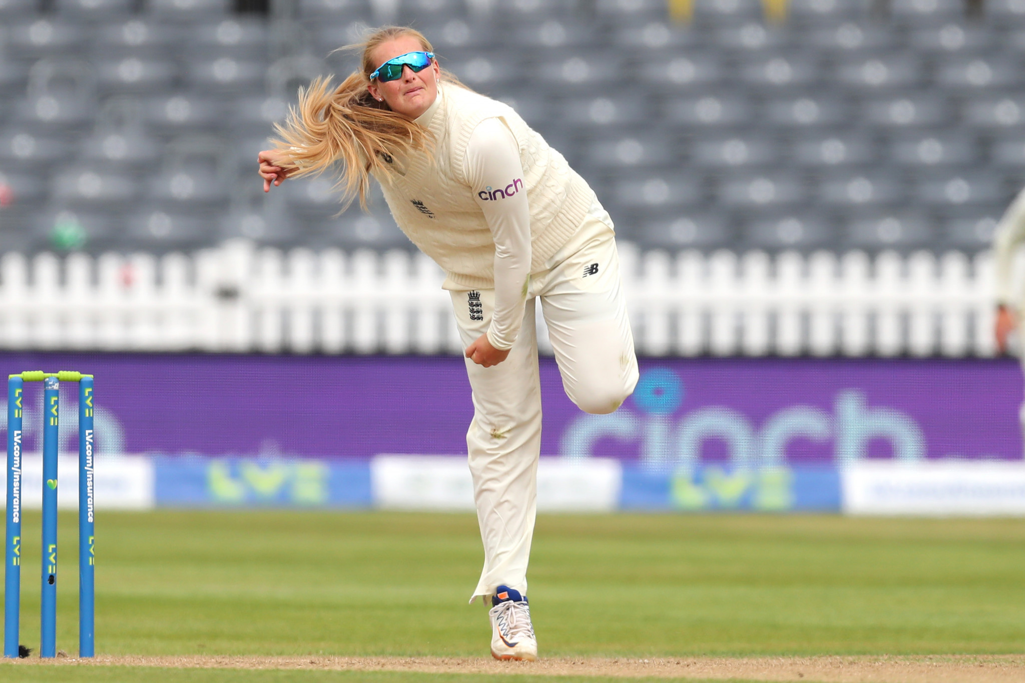 Women's Player of the Month winner Sophie Ecclestone notched 14 wickets in one Test and two ODI matches against India ©Getty Images
