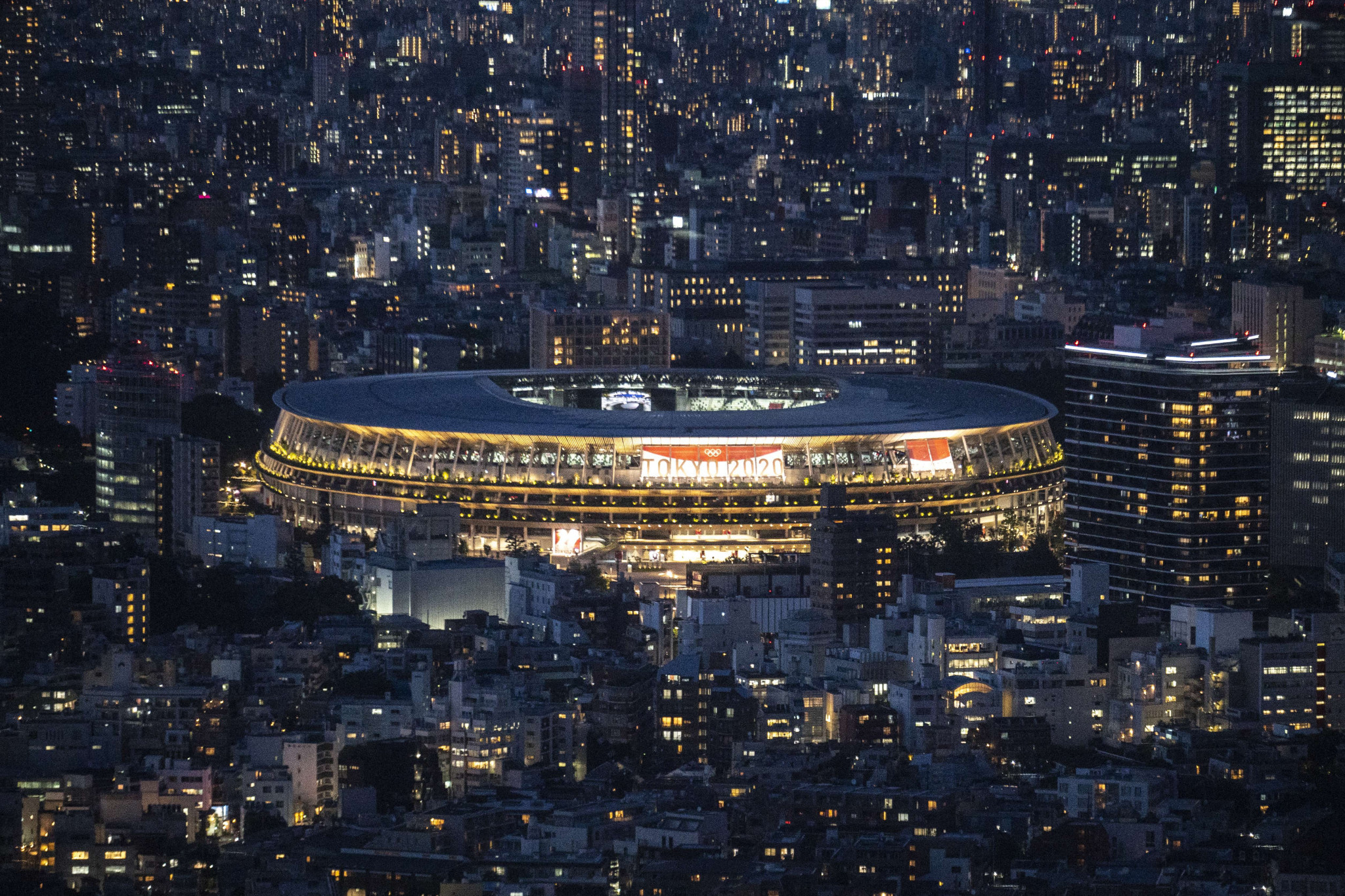 A man has reportedly been arrested for an alleged rape at Japan National Stadium ©Getty Images