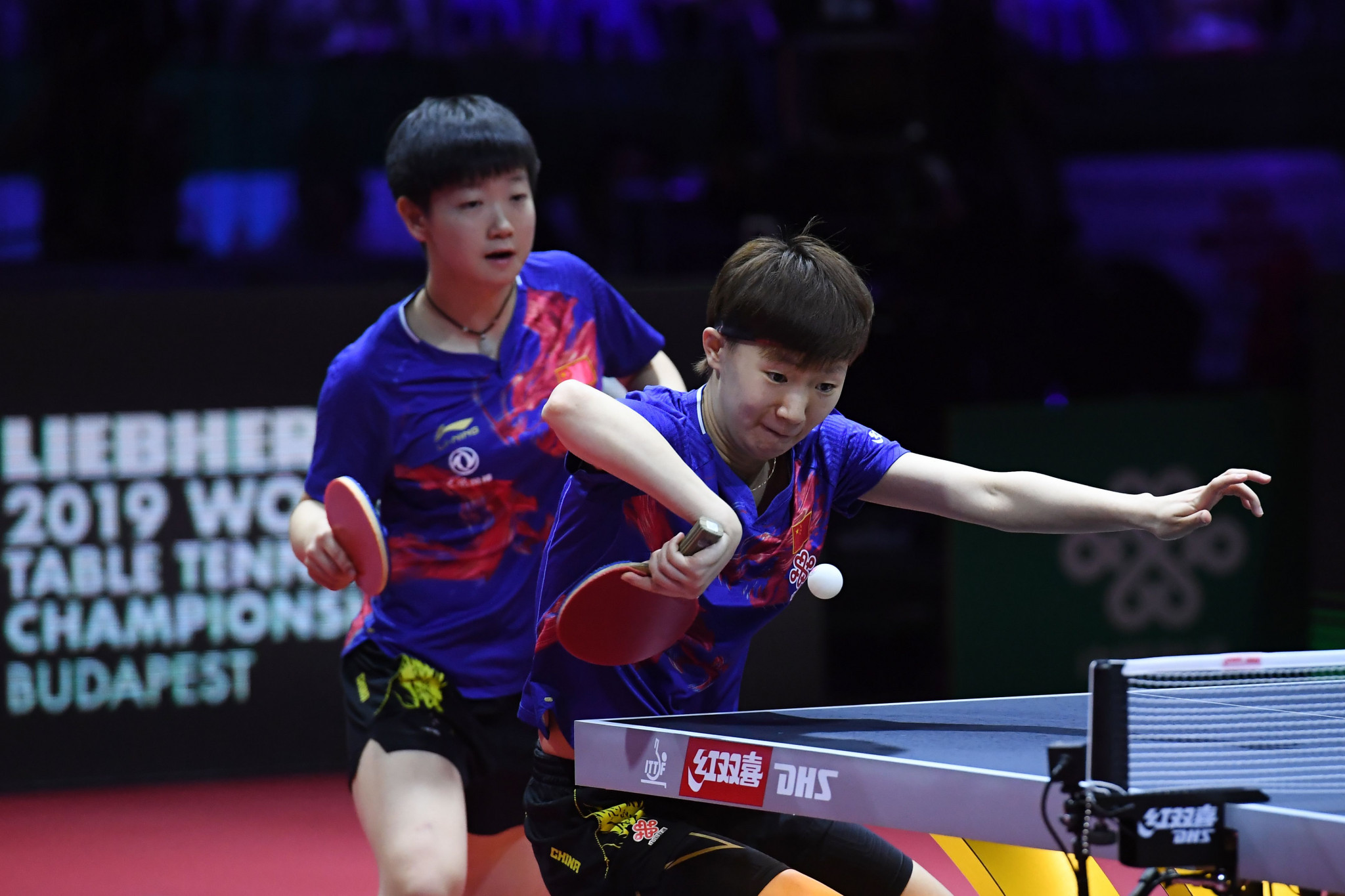 Players from China won all five events the last time the World Table Tennis Championships took place, including Wang Manyu and Sun Yingsha in the women's doubles ©Getty Images
