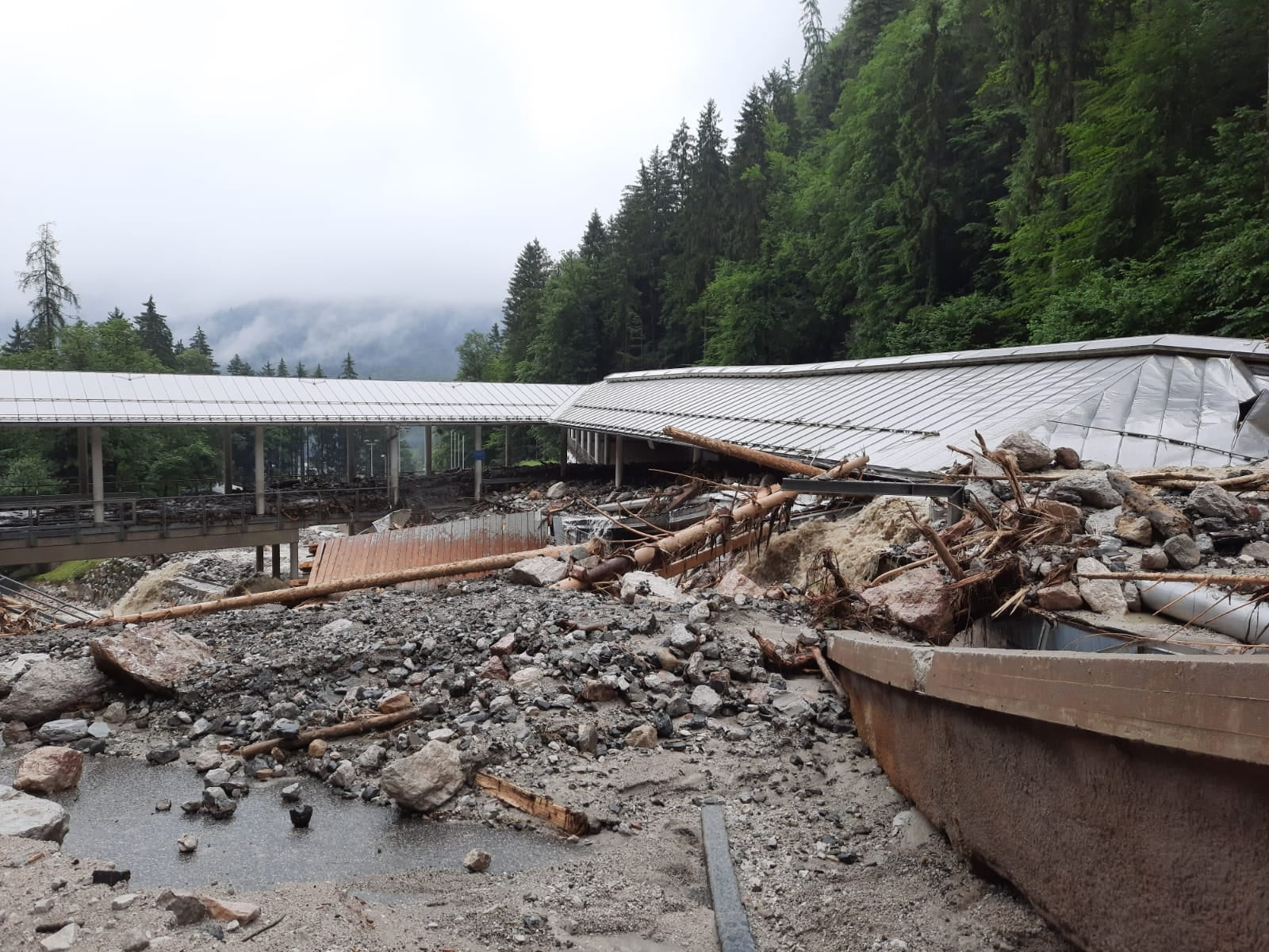 Iconic Königssee sliding track wrecked in deadly German floods