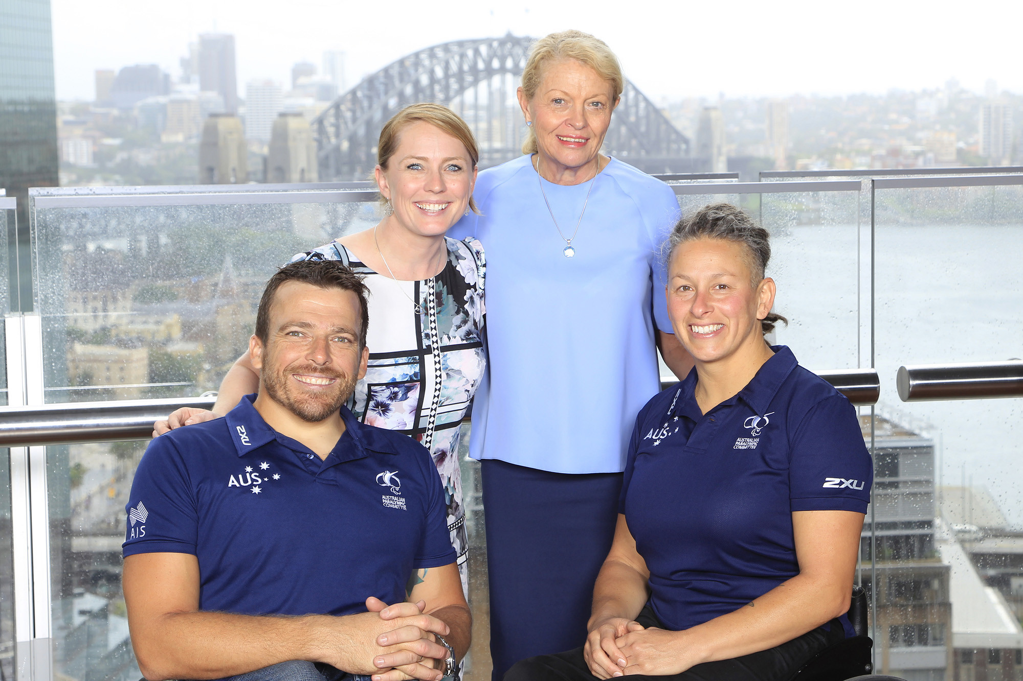 Lynne Anderson, second right, has earned widespread praise from across sport for the success she has achieved as chief executive of Paralympics Australia ©Getty Images