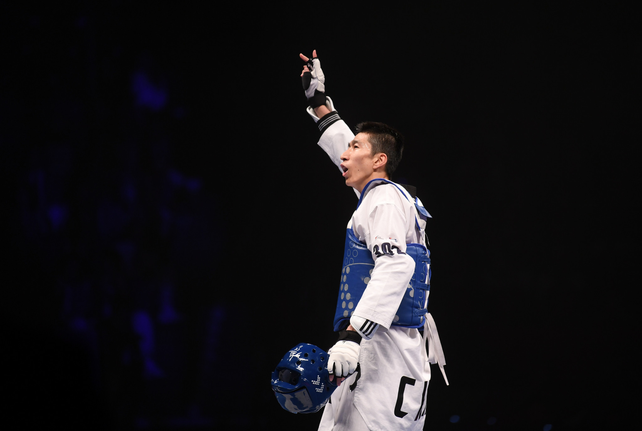 Taekwondo Olympic champion Zhao Shuai has been named as China's male flagbearer ©Getty Images