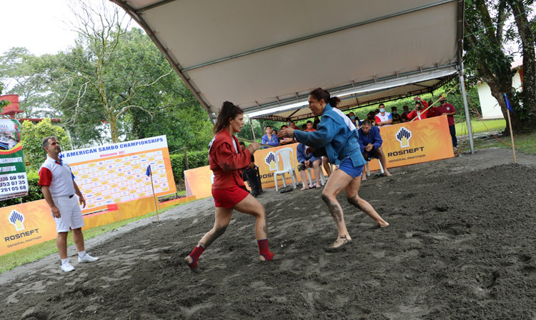 Costa Rica dominate beach action at Pan American Sambo Championships