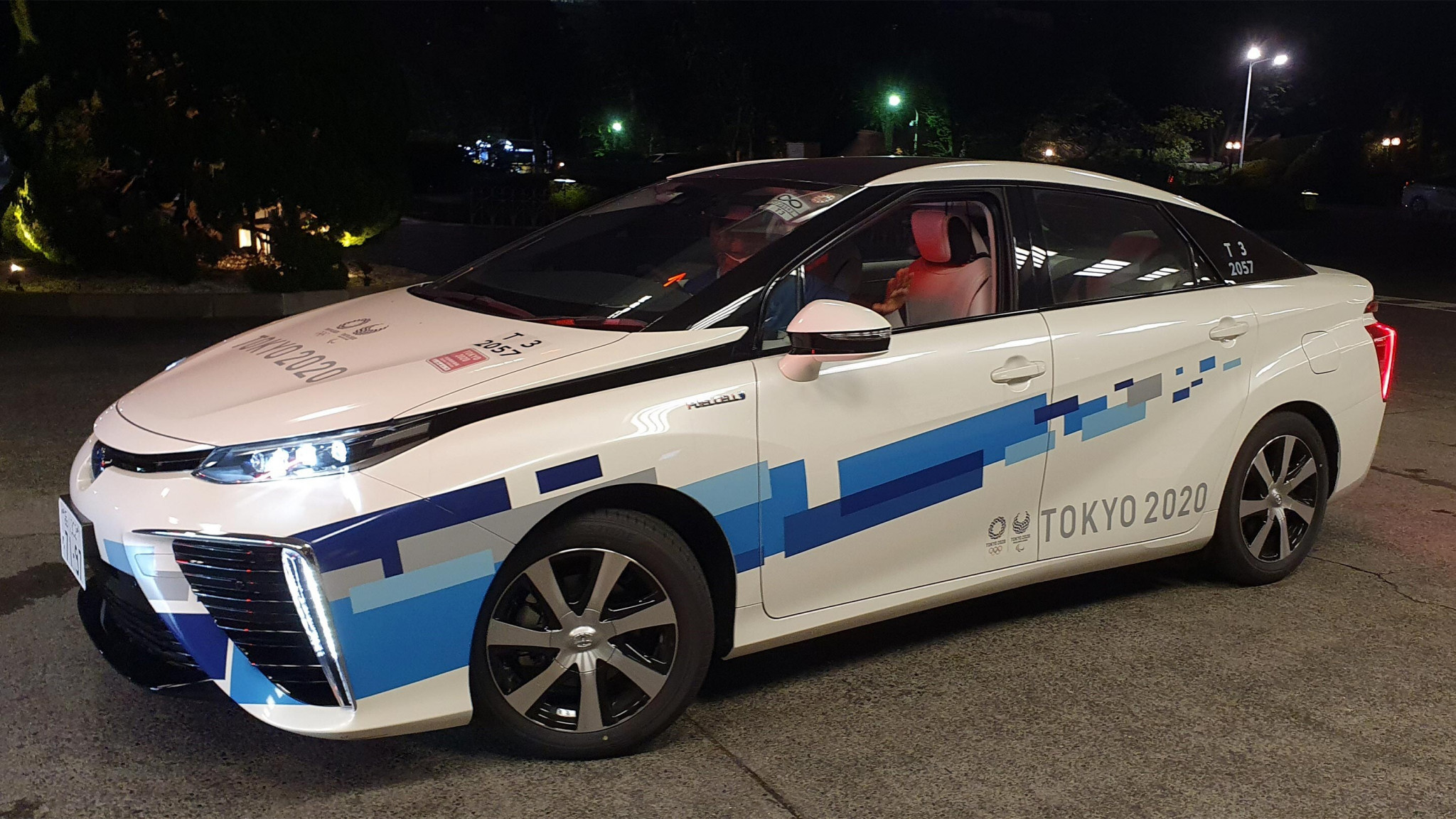 Toyota is supplying approximately 500 Mirai fuel cell vehicles to the Games to help transport staff and officials ©IOC