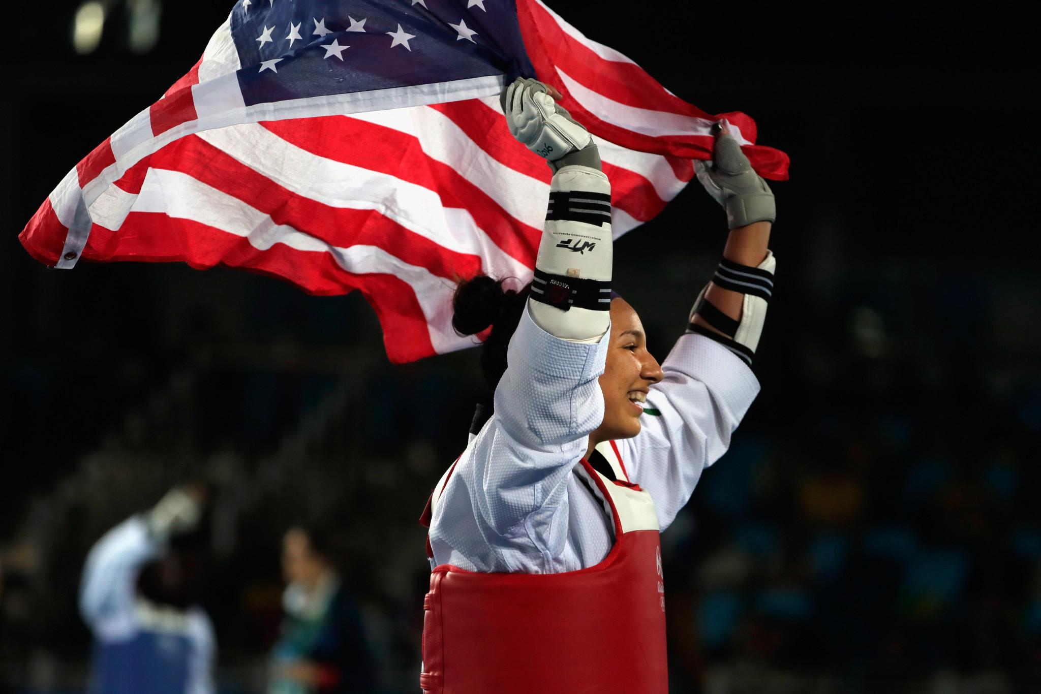 Jackie Galloway won the U.S. National Taekwondo Championships in 2013 ©Getty Images