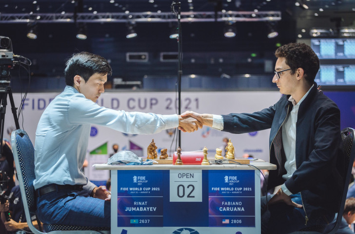 World number two Caruana knocked out of Chess World Cup by Jumabayev