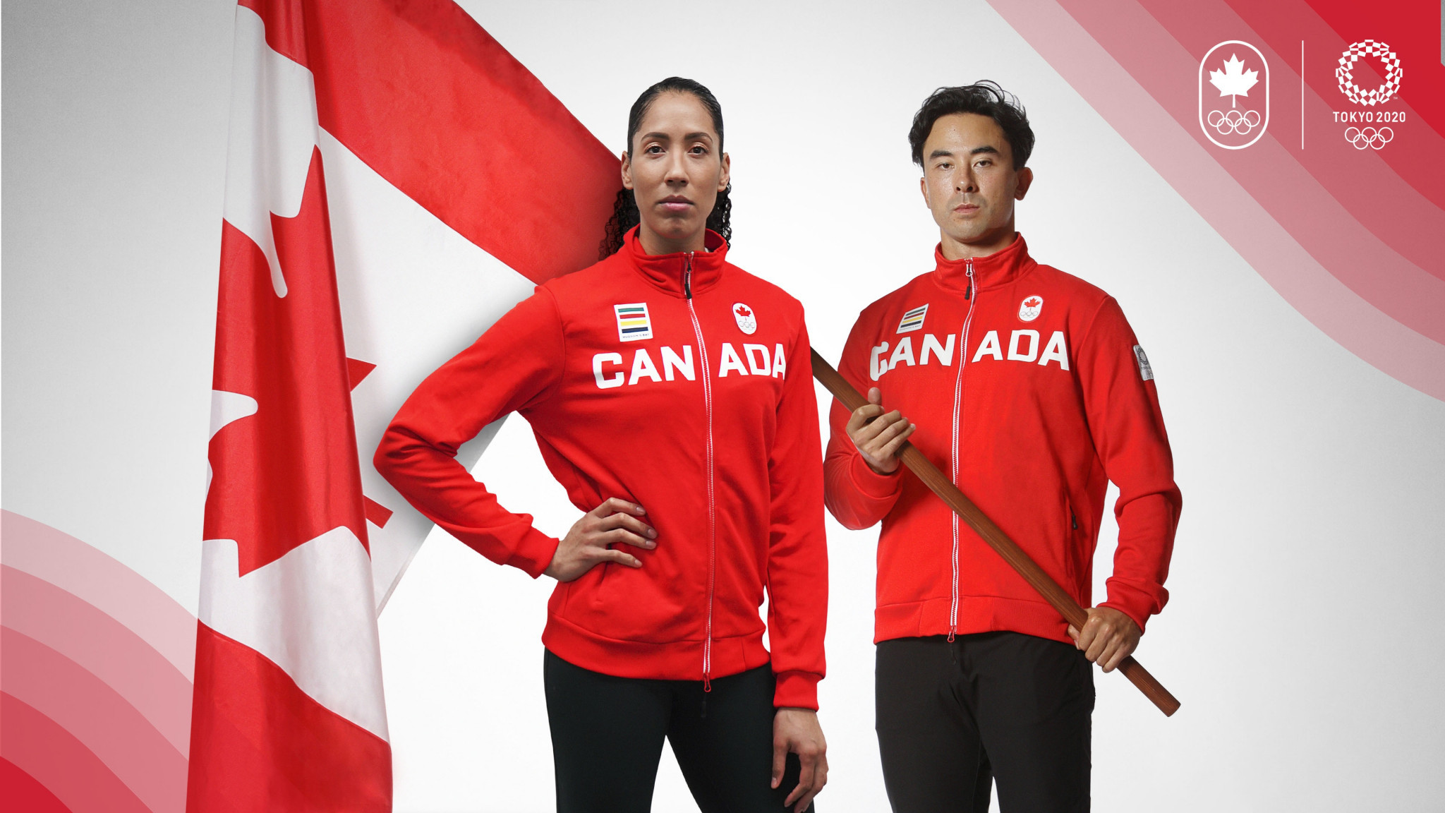 Miranda Ayim and Nathan Hirayama have been chosen to carry the Canadian flag at the Opening Ceremony of the Olympics ©COC