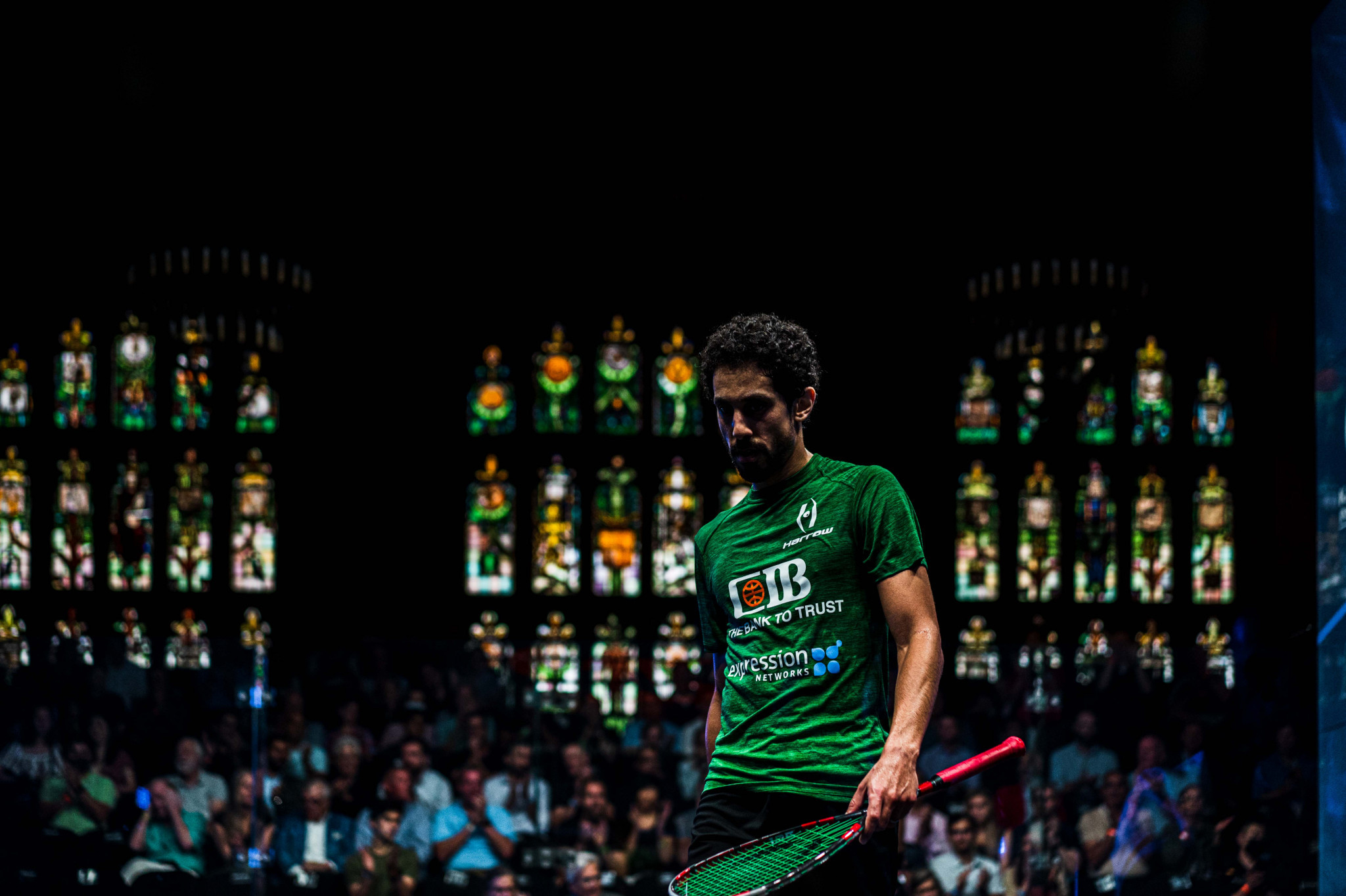 Reigning men's world champion Tarek Momen booked his place in the last four ©PSA