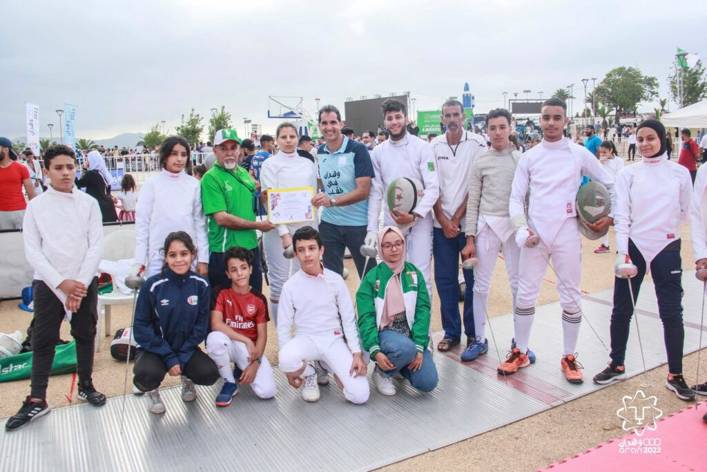 The event to mark the start of the countdown to the Oran 2022 Mediterranean Games featured 300 young people taking part in a range of activities ©CIJM