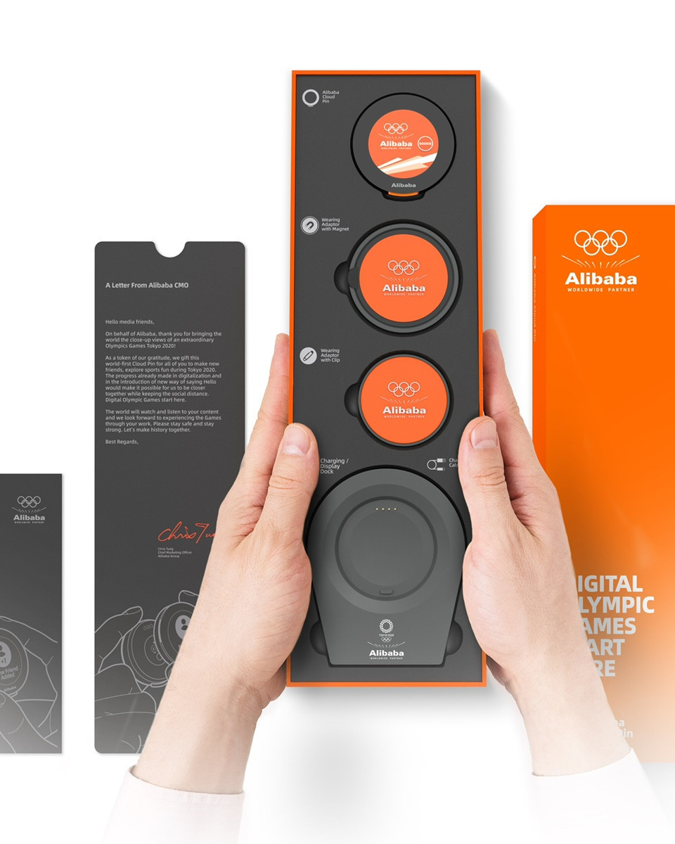 """Alibaba offer """"cloud pins"""" to media working at Tokyo 2020"""