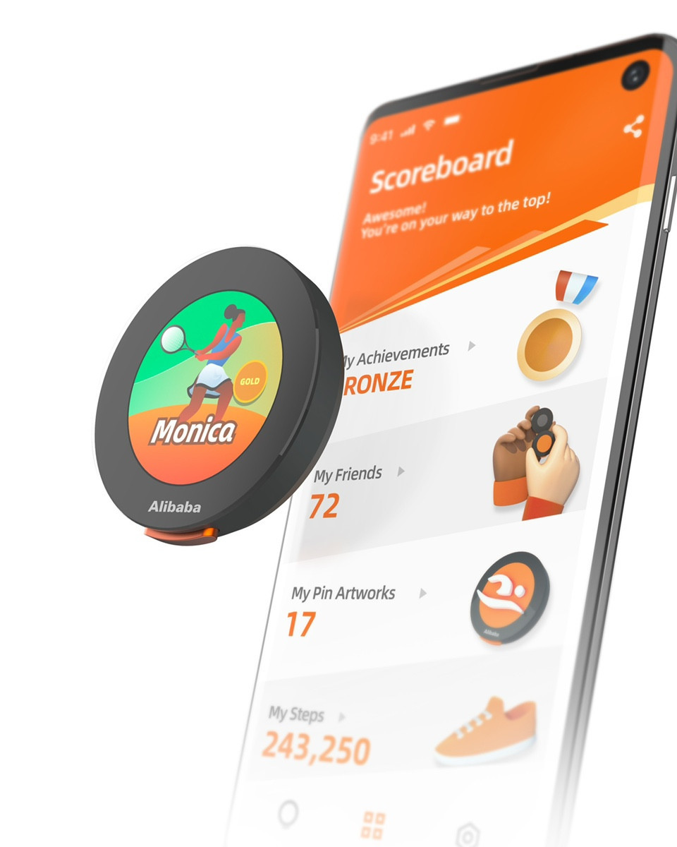 Users of the cloud pins can unlock achievements and make friends ©Alibaba