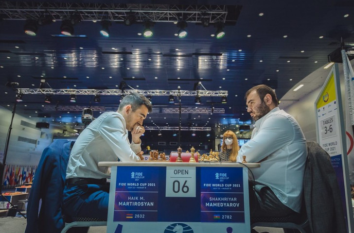 The Chess World Cup was blown wide open after the elimination of two top-10 players, including Shakhriyar Mamedyarov ©FIDE/Anastasiia Korolkova