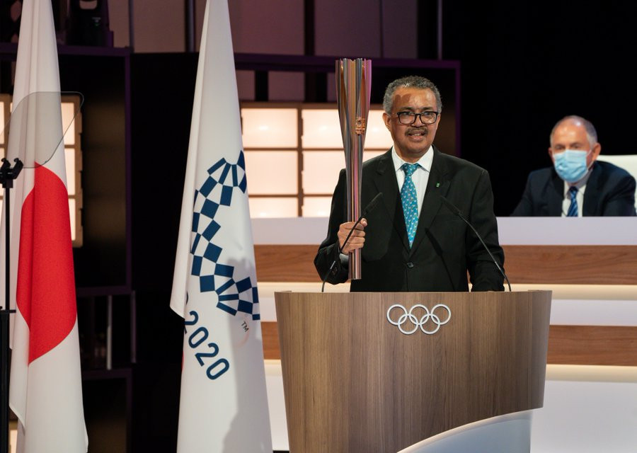 WHO director general Dr Tedros Adhanom Ghebreyesus gave the keynote speech to the IOC Session ©IOC