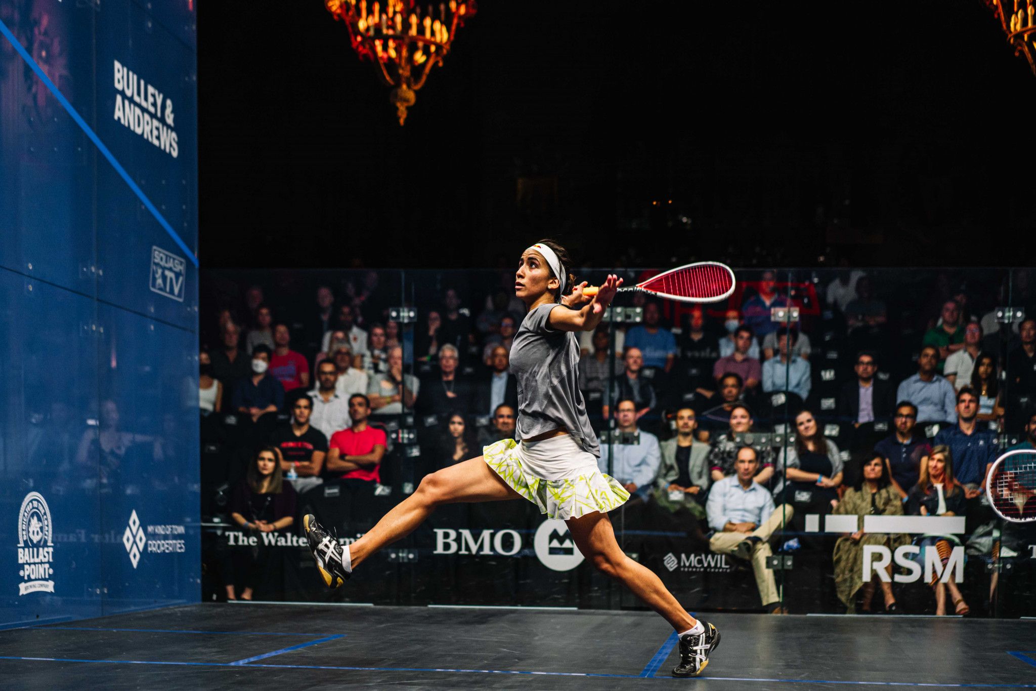 Nouran Gohar, the second seed, booked her semi-final spot in Chicago ©PSA