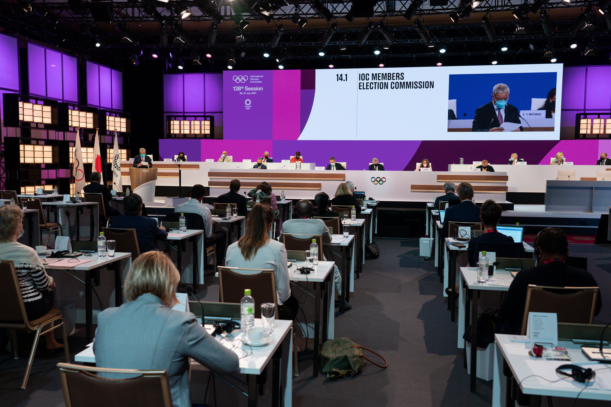 Three IOC Executive Board members were elected during the Session in Tokyo ©IOC