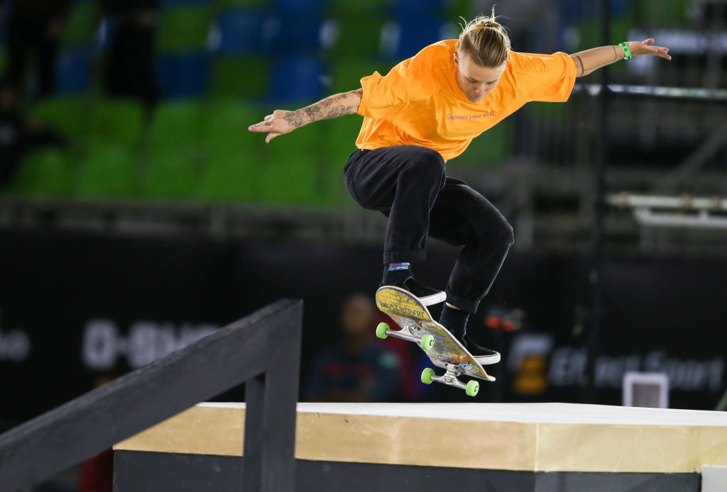 Dutch skateboarder Candy Jacobs has tested positive at the Tokyo 2020 Olympic Village ©Getty Images
