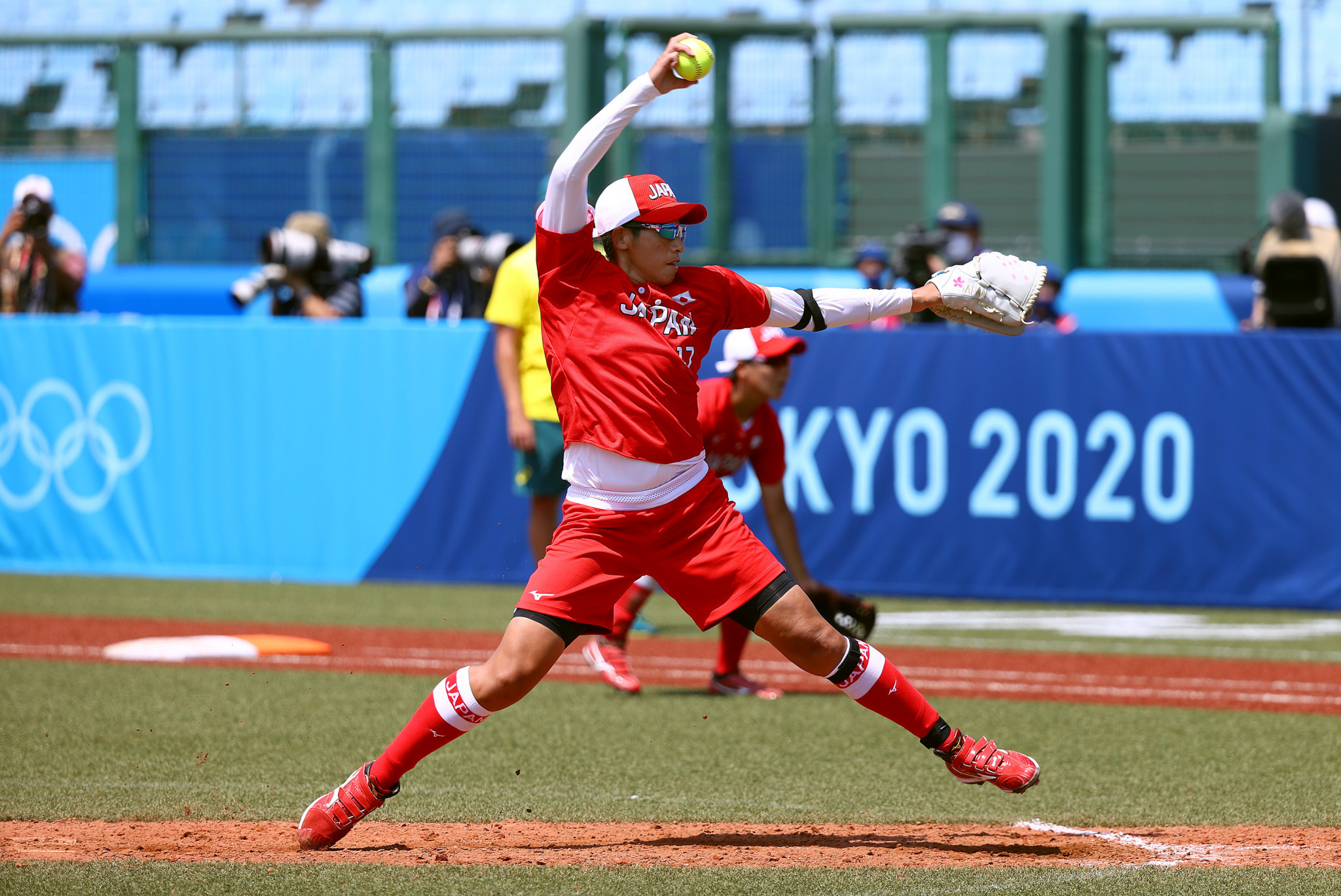 Japan won the first sporting clash of Tokyo 2020, a softball contest against Australia in Fukushima ©Getty Images