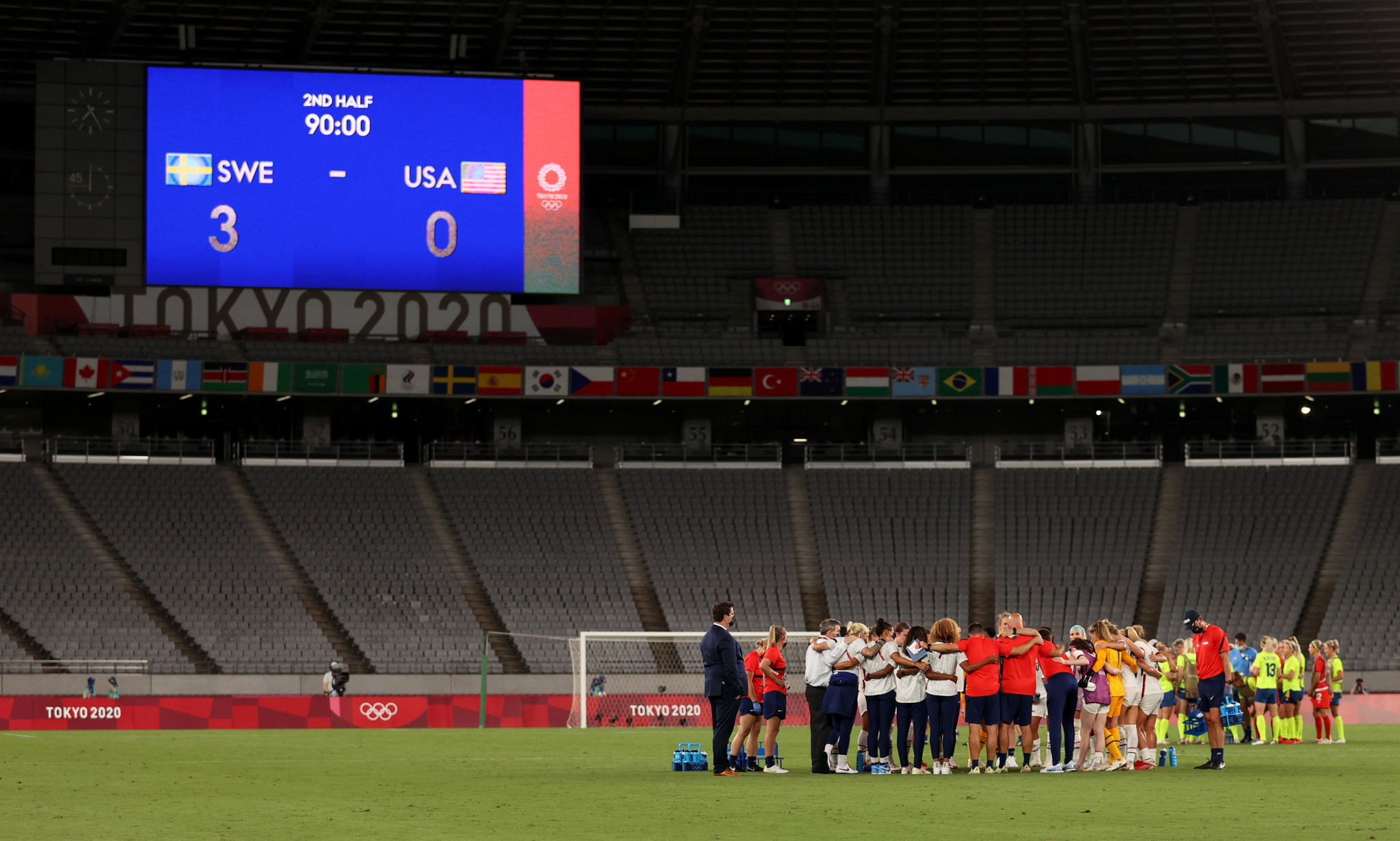 Sweden shocked the United States with a 3-0 win at Tokyo Stadium ©Getty Images