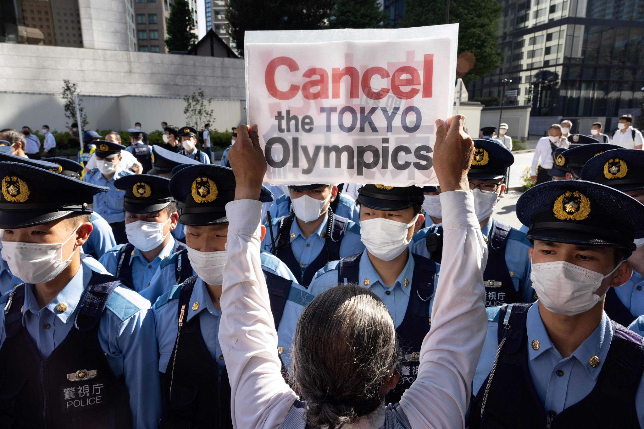 Campaigners call for the Tokyo 2020 Olympic Games to be cancelled ©Getty Images
